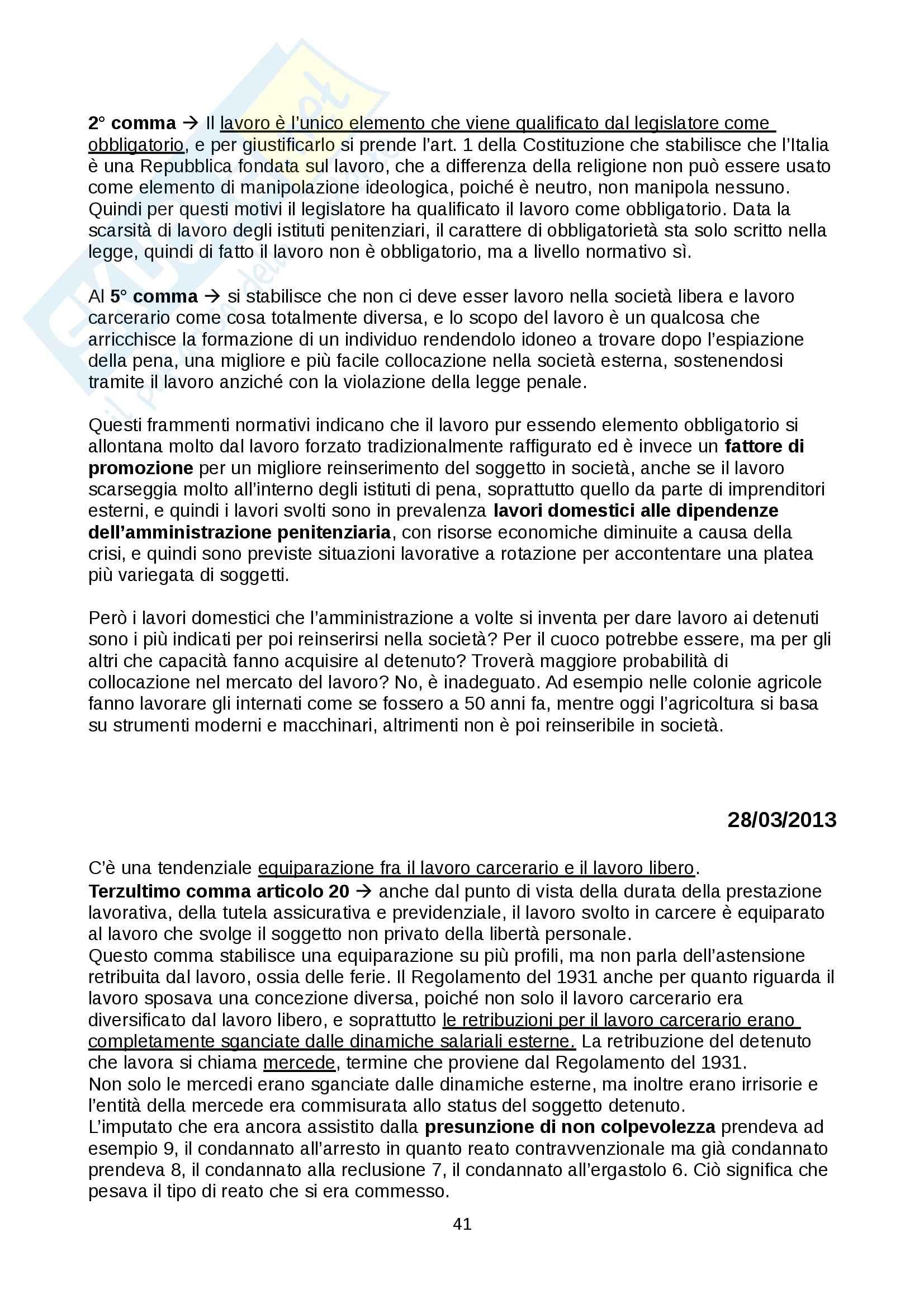Diritto penitenziario - nozioni Pag. 41