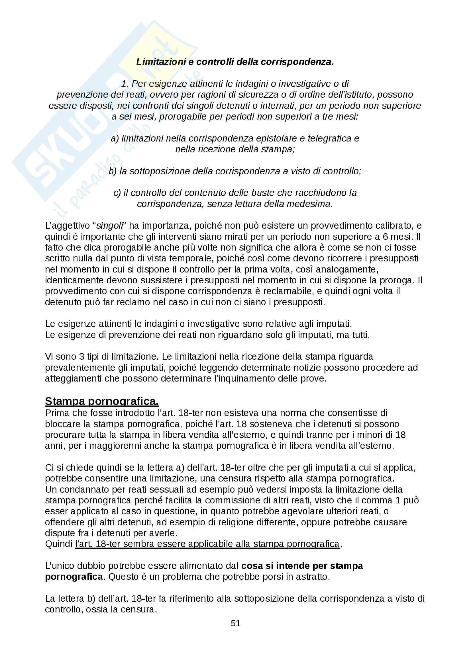 Diritto penitenziario - nozioni Pag. 51