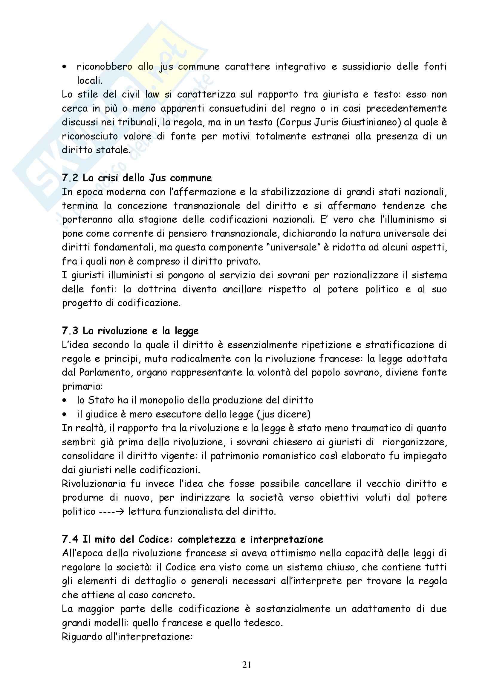 Diritto privato comparato - Ajani - Dispensa Pag. 21