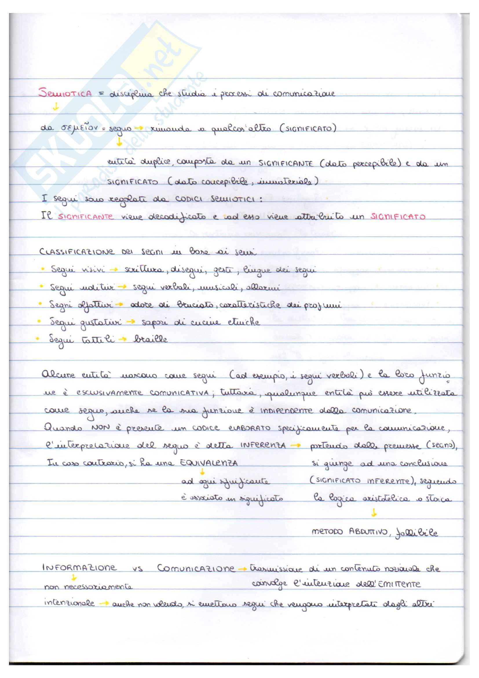 Appunti di Semiotica