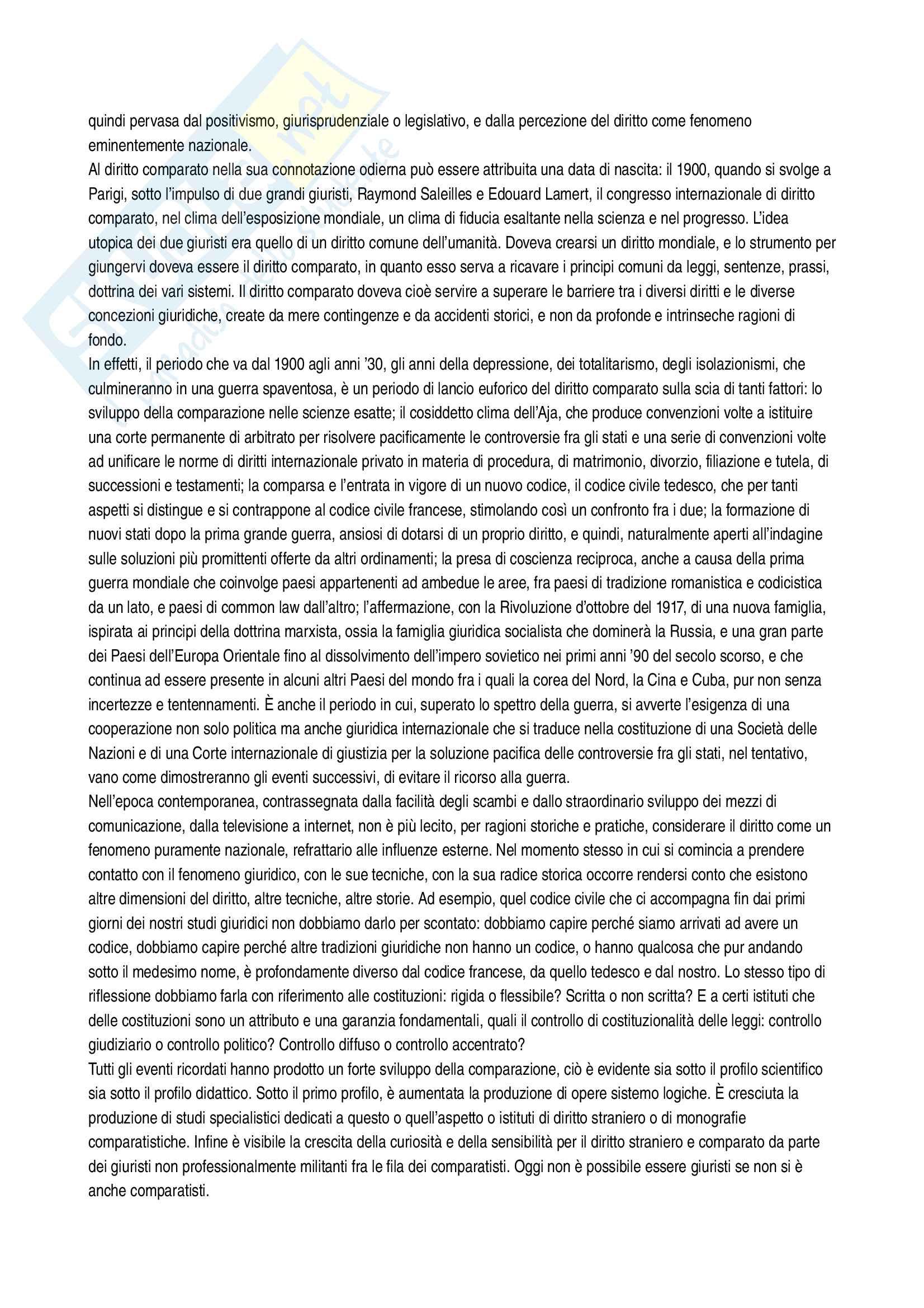 Riassunto esame Sistemi giuridici comparati, prof. Sonelli, libro consigliato La tradizione giuridica occidentale, Varano-Barsotti, Giappichelli Editore, V edizione Pag. 2