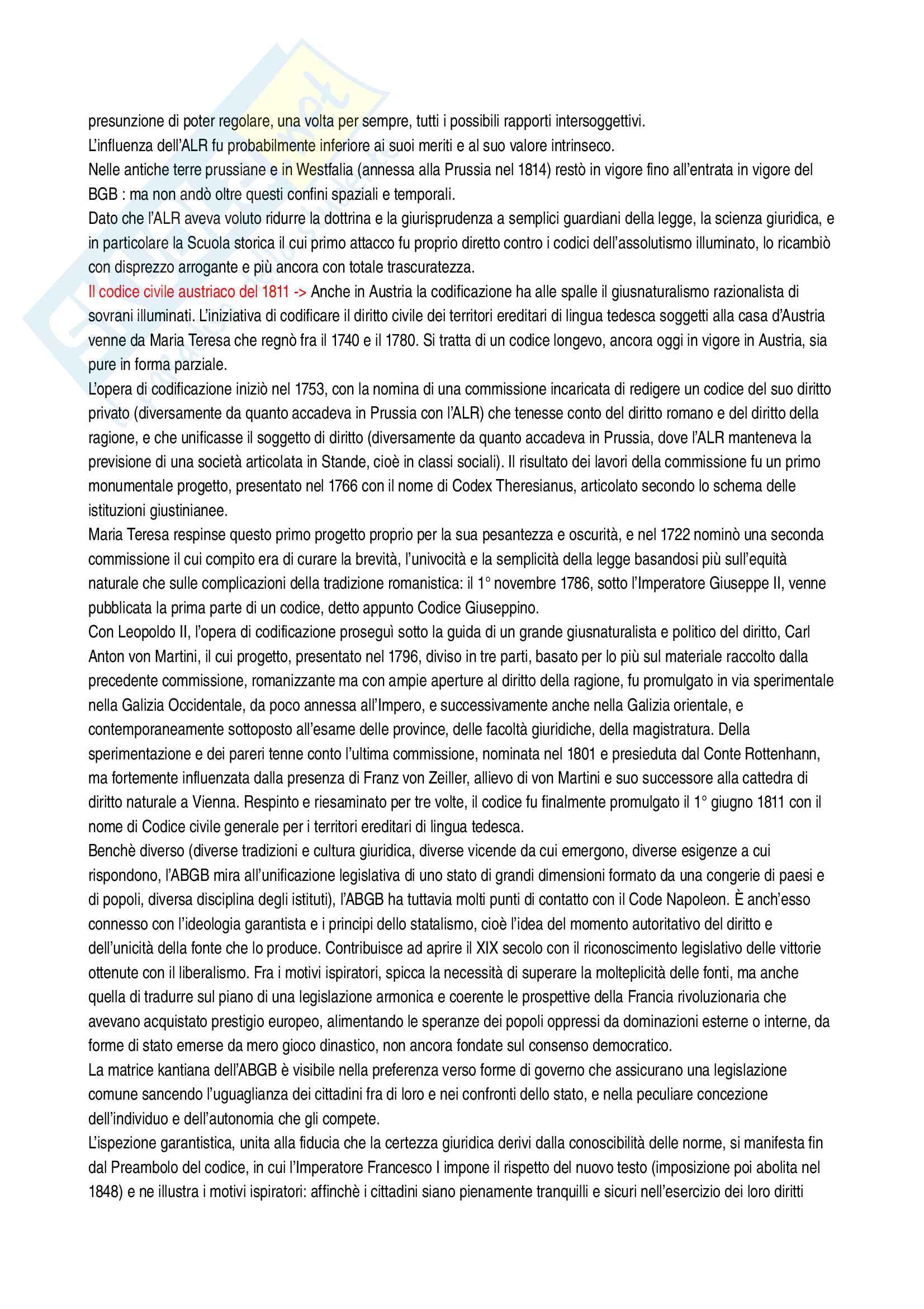 Riassunto esame Sistemi giuridici comparati, prof. Sonelli, libro consigliato La tradizione giuridica occidentale, Varano-Barsotti, Giappichelli Editore, V edizione Pag. 31