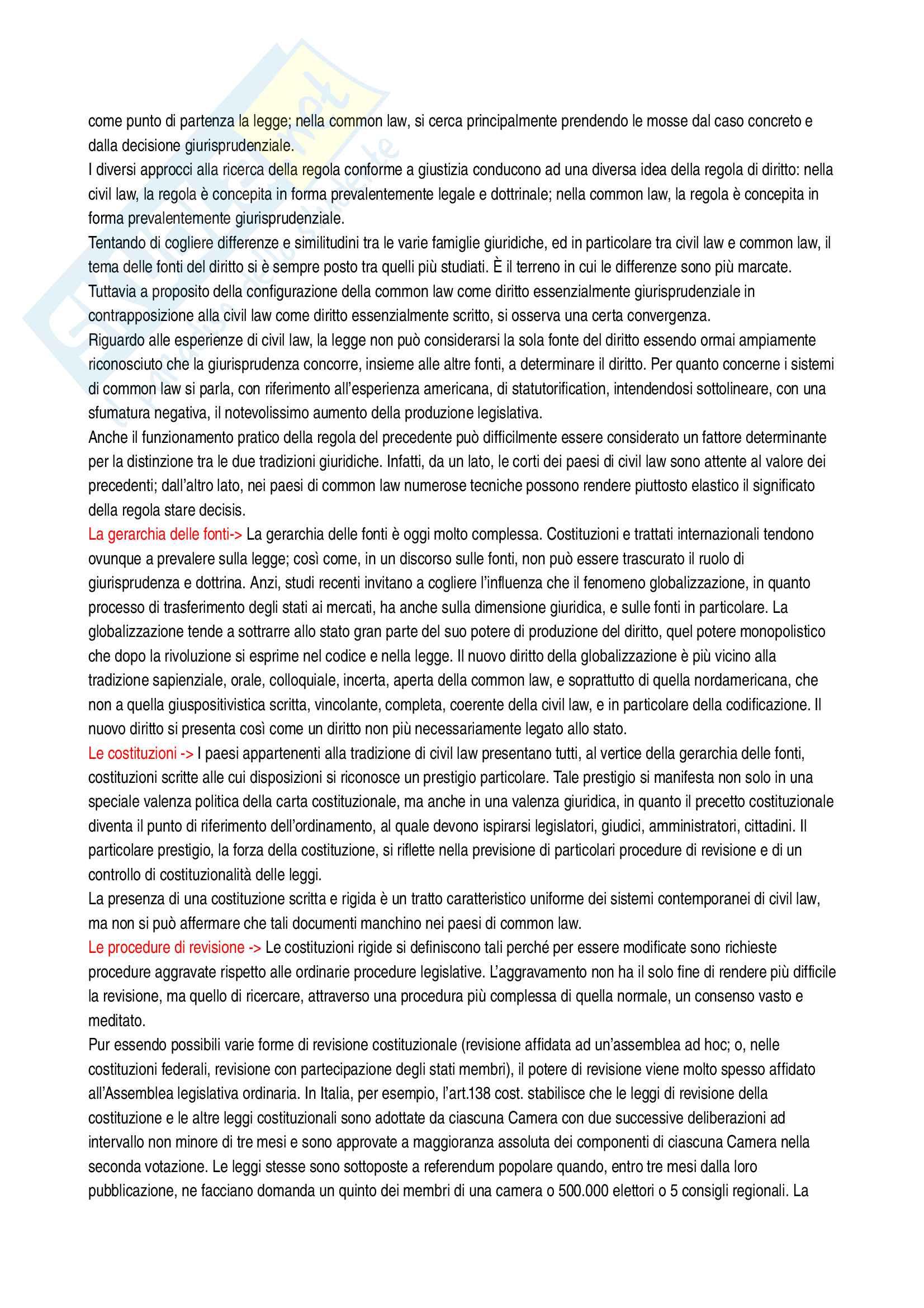 Riassunto esame Sistemi giuridici comparati, prof. Sonelli, libro consigliato La tradizione giuridica occidentale, Varano-Barsotti, Giappichelli Editore, V edizione Pag. 41