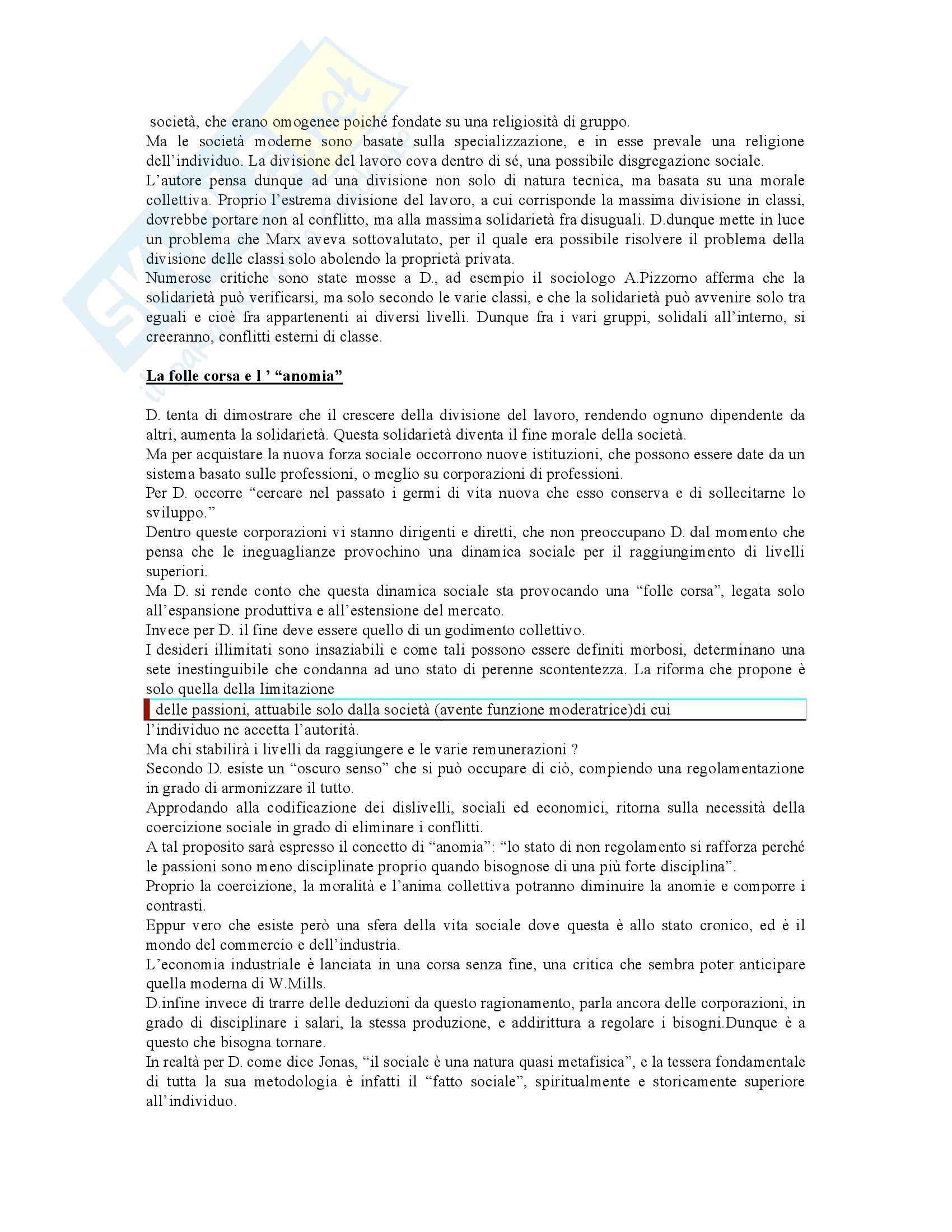 Riassunto esame Sociologia Generale, prof. Iannaccone, libro consigliato Il Suicidio, Guiducci Pag. 2