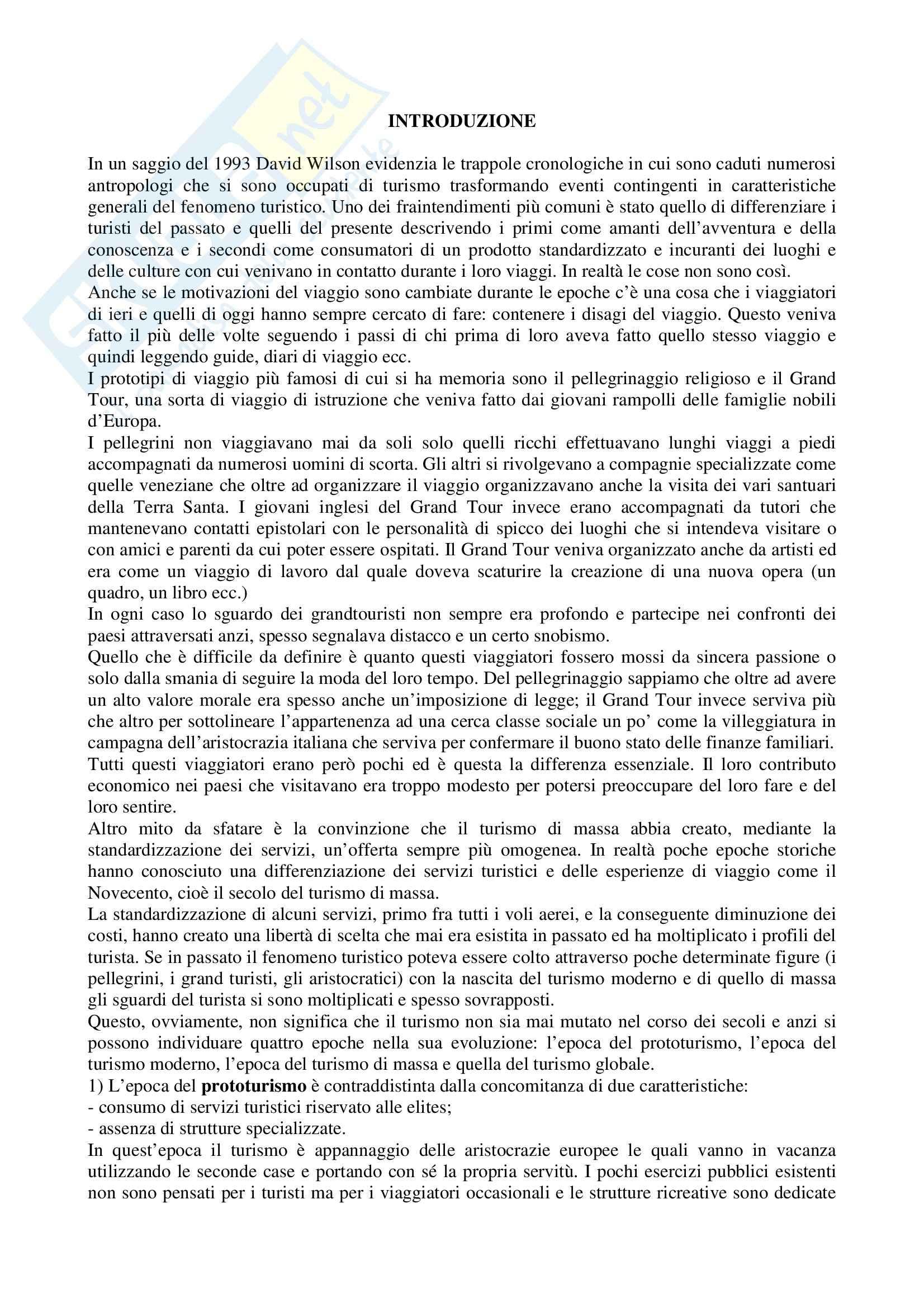 Riassunto esame Storia del Turismo, prof. Gissi, libro consigliato Vacanze di Pochi Vacanze di Tutti, Battilani