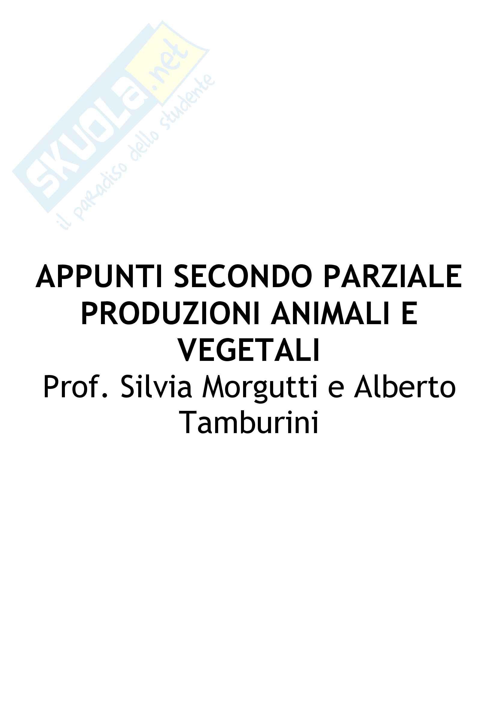 Appunti Secondo parziale: Produzioni animali e vegetali