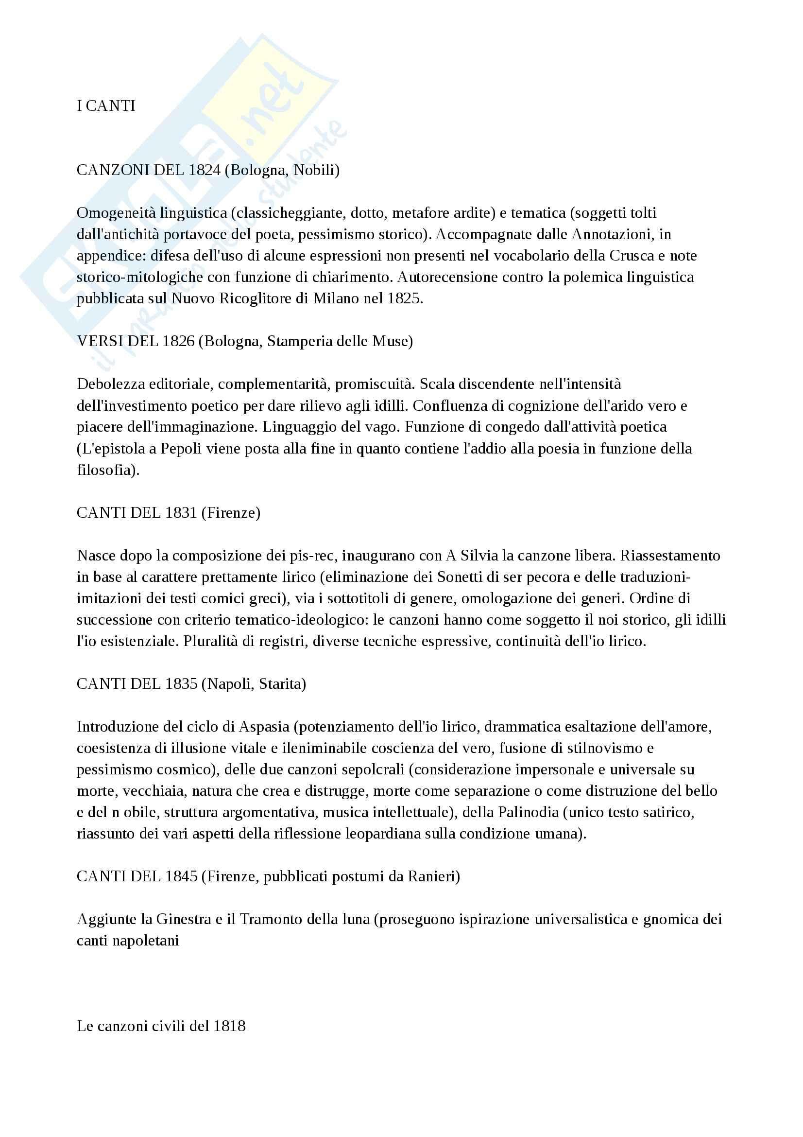 appunto A. Storti Letteratura italiana