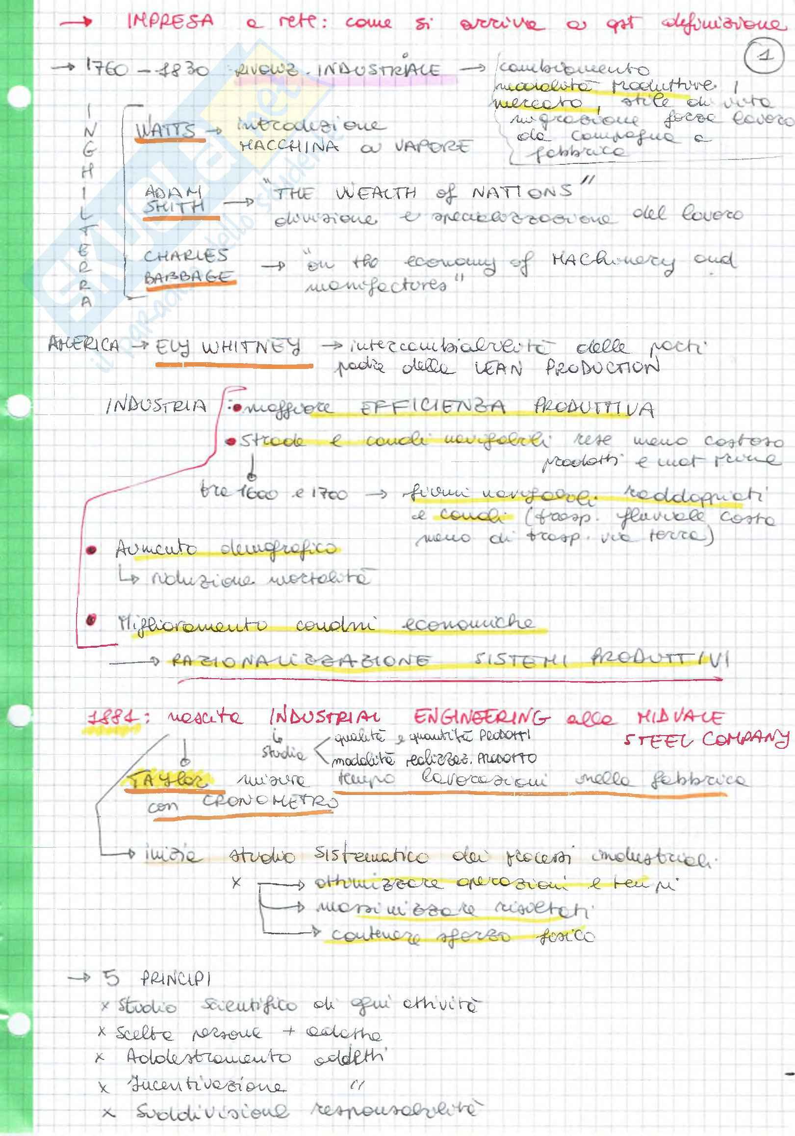 (1/2) Schemi e riassunti, Organizzazione del cantiere, prof. G. Novembri