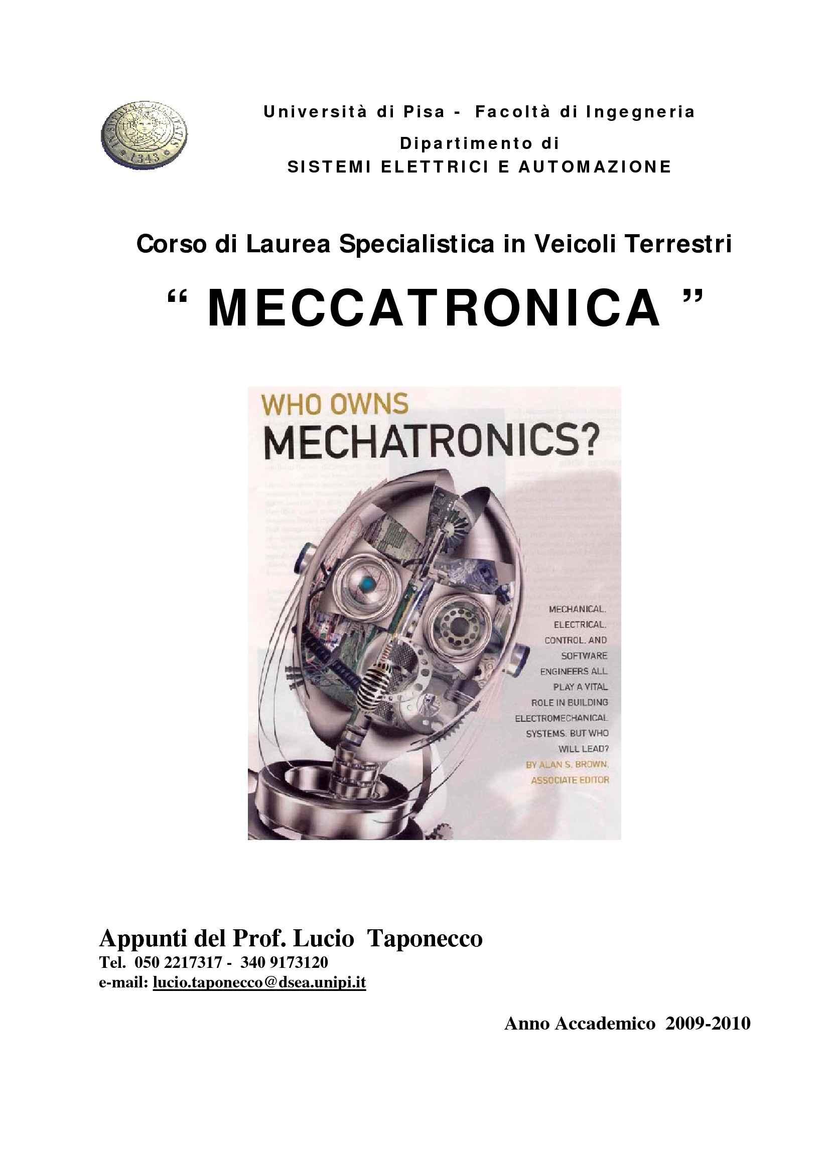 Meccatronica - Introduzione