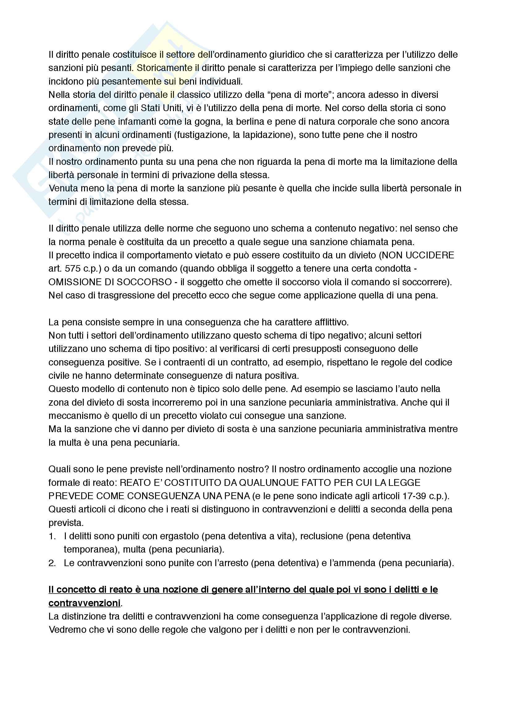 """Riassunto Diritto Penale, prof. Marco Pelissero, libro consigliato""""Manuale di diritto penale"""""""
