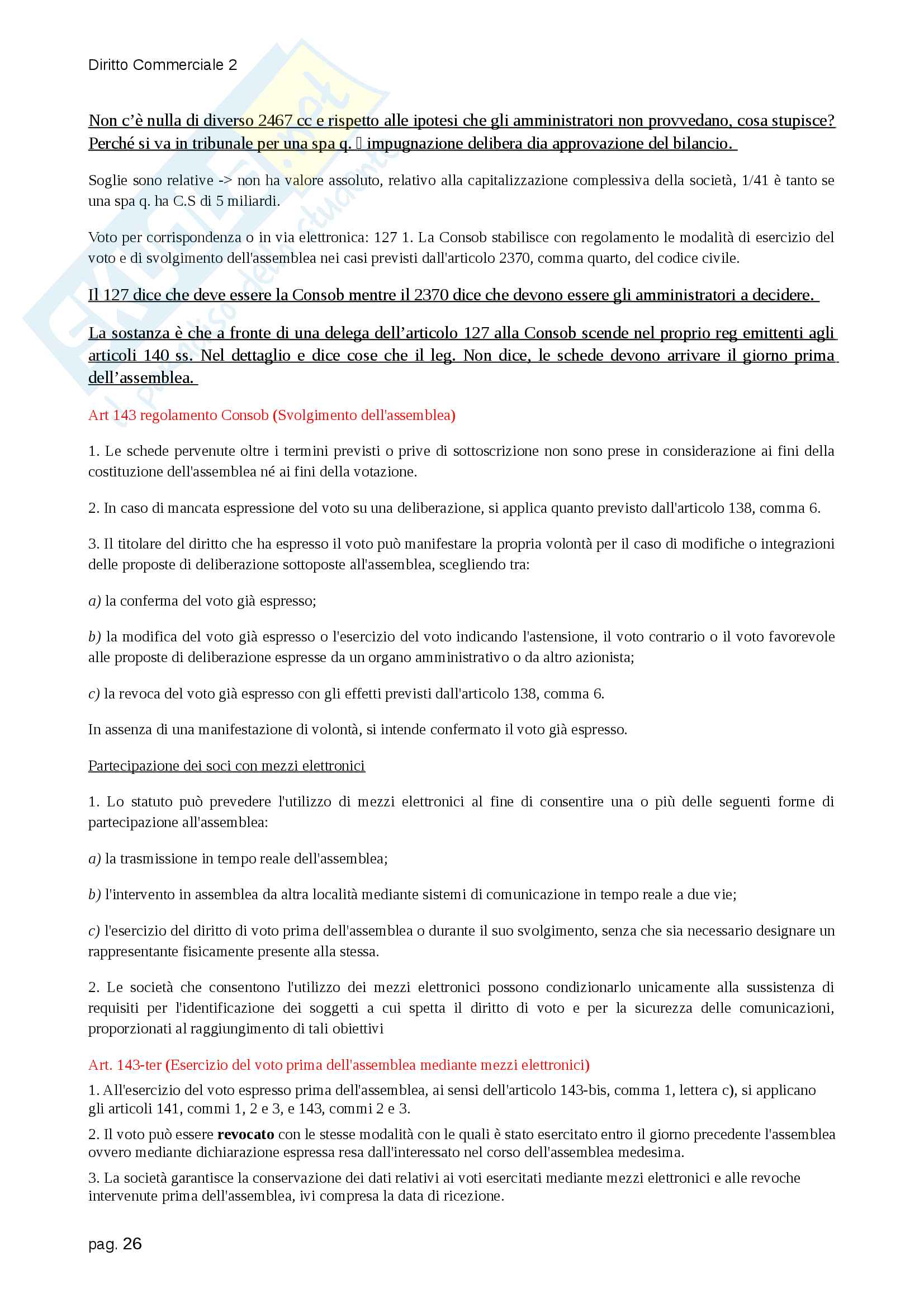 Diritto Commerciale 2 Pag. 26