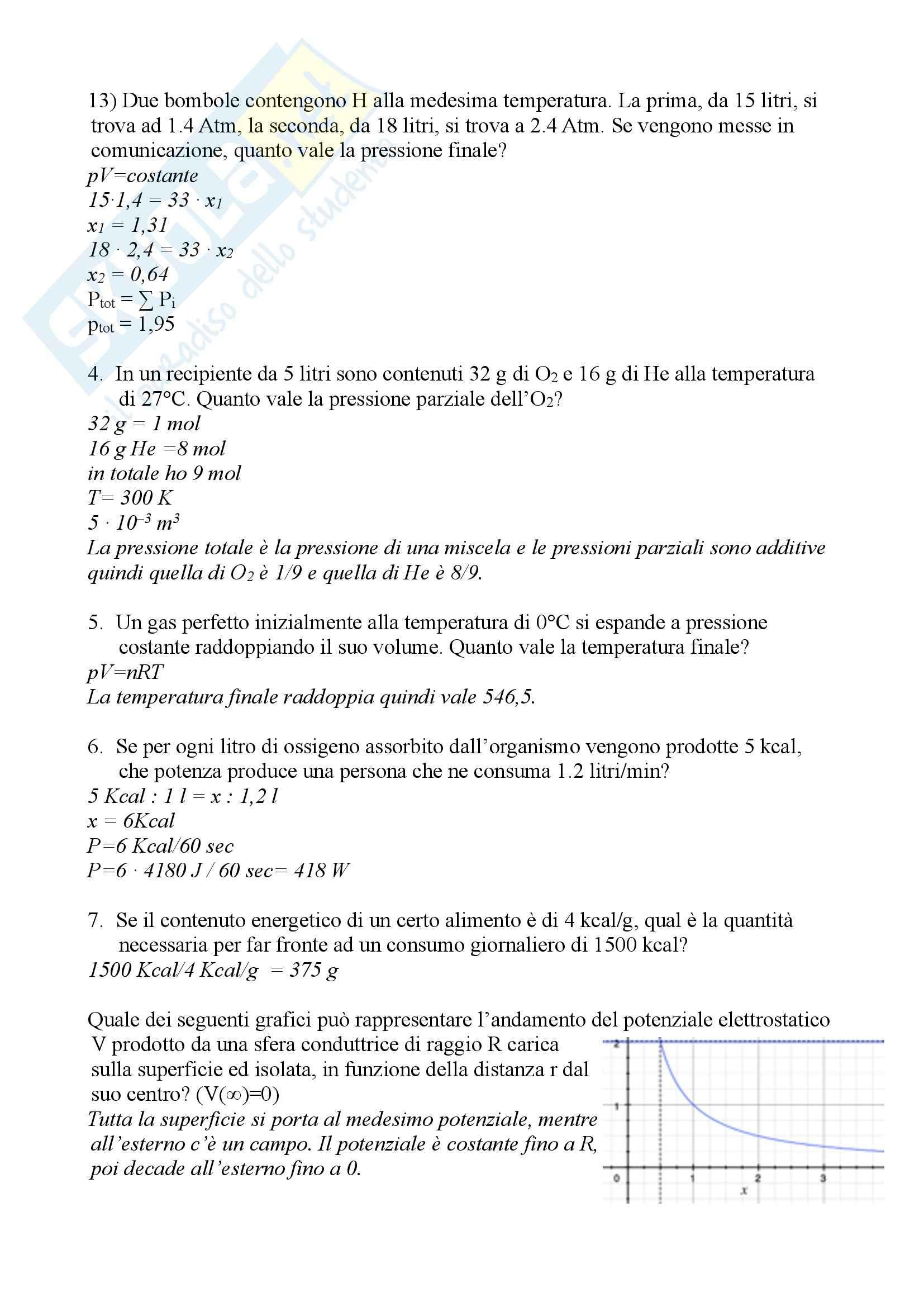Fisica Medica - esercizi Pag. 11