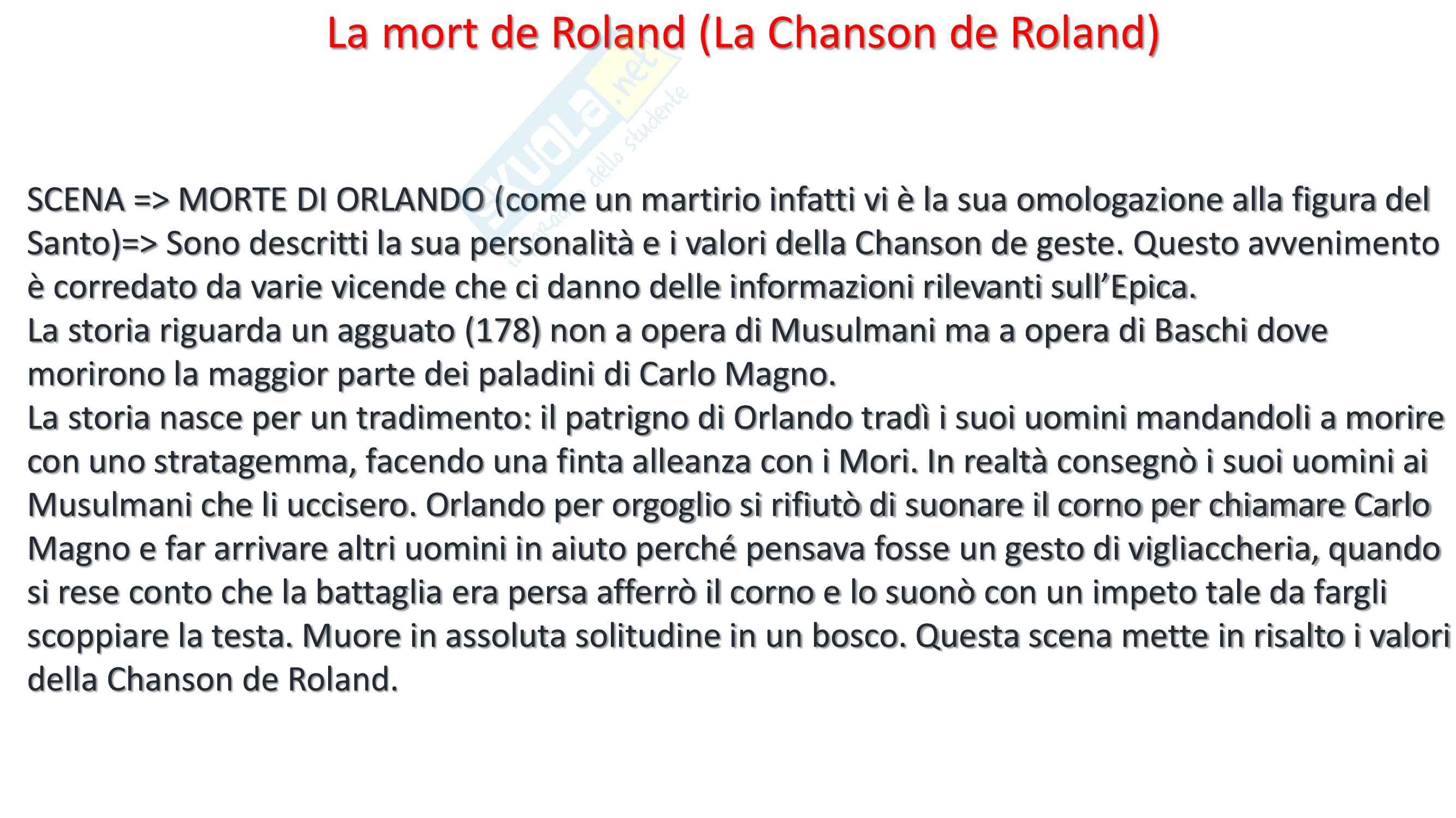 Analisi La mort de Roland