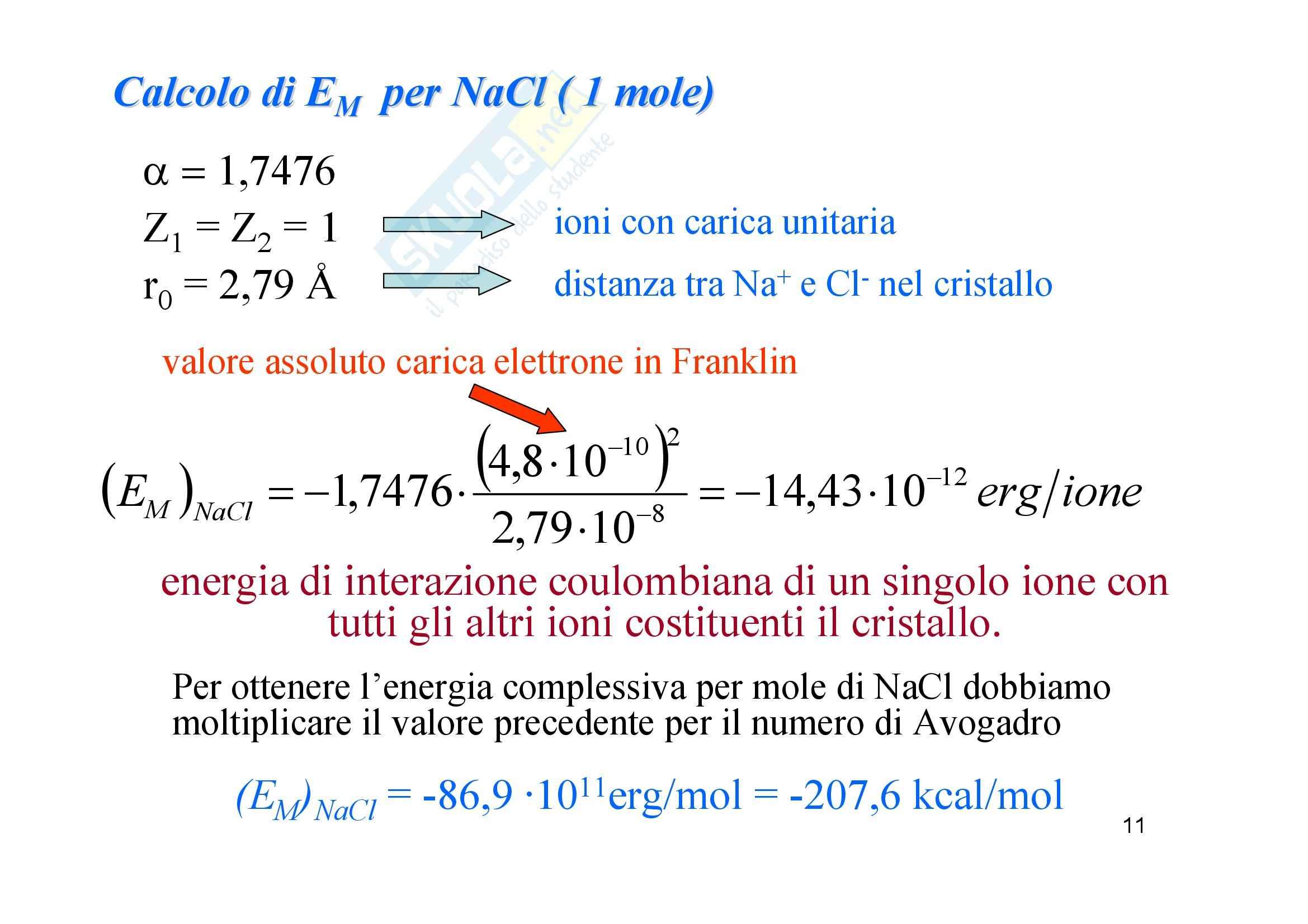 Chimica generale e inorganica - il legame ionico Pag. 11