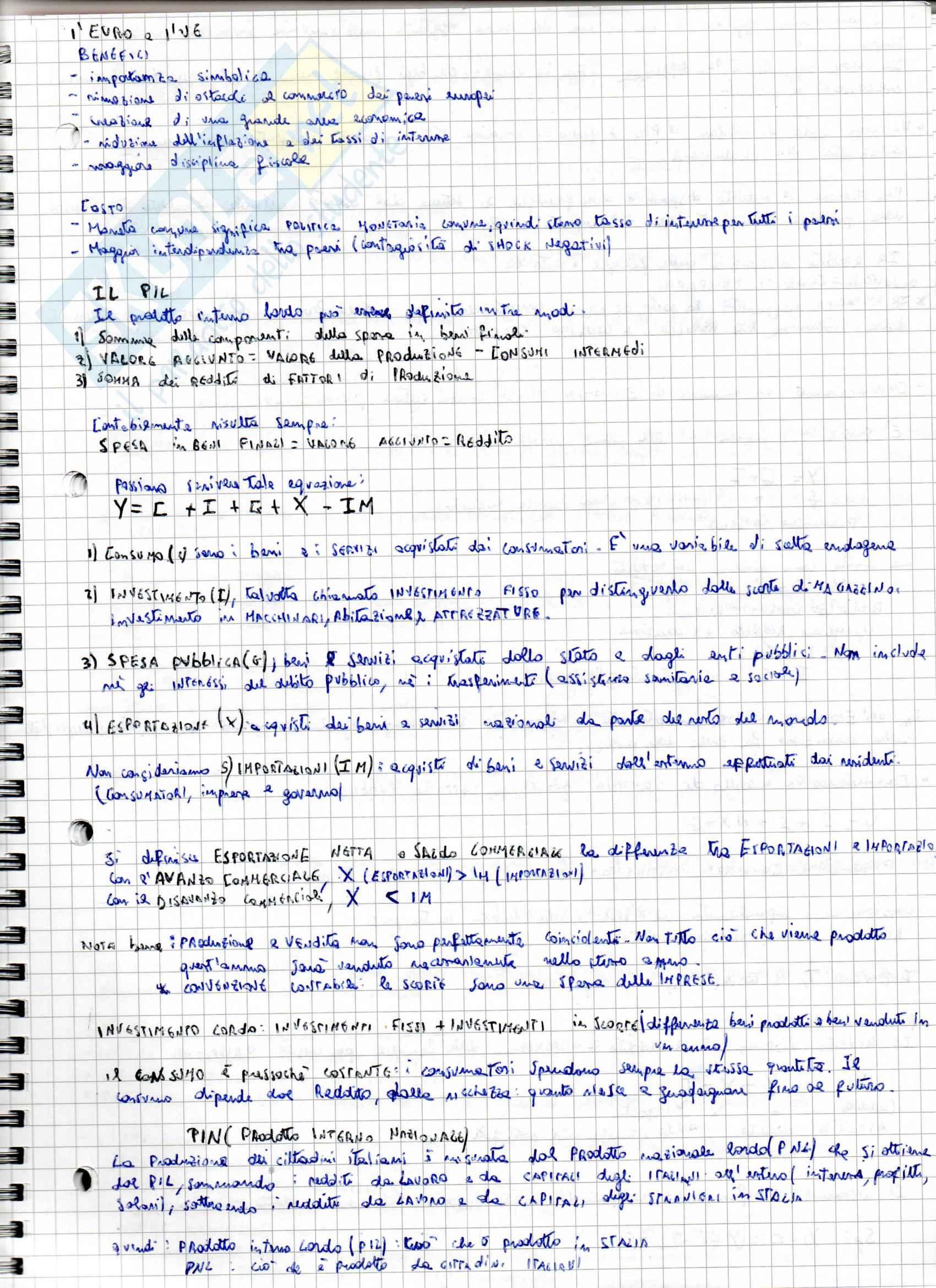 Appunti per l'esame di Macroeconomia, prof. Jappelli-Simonelli