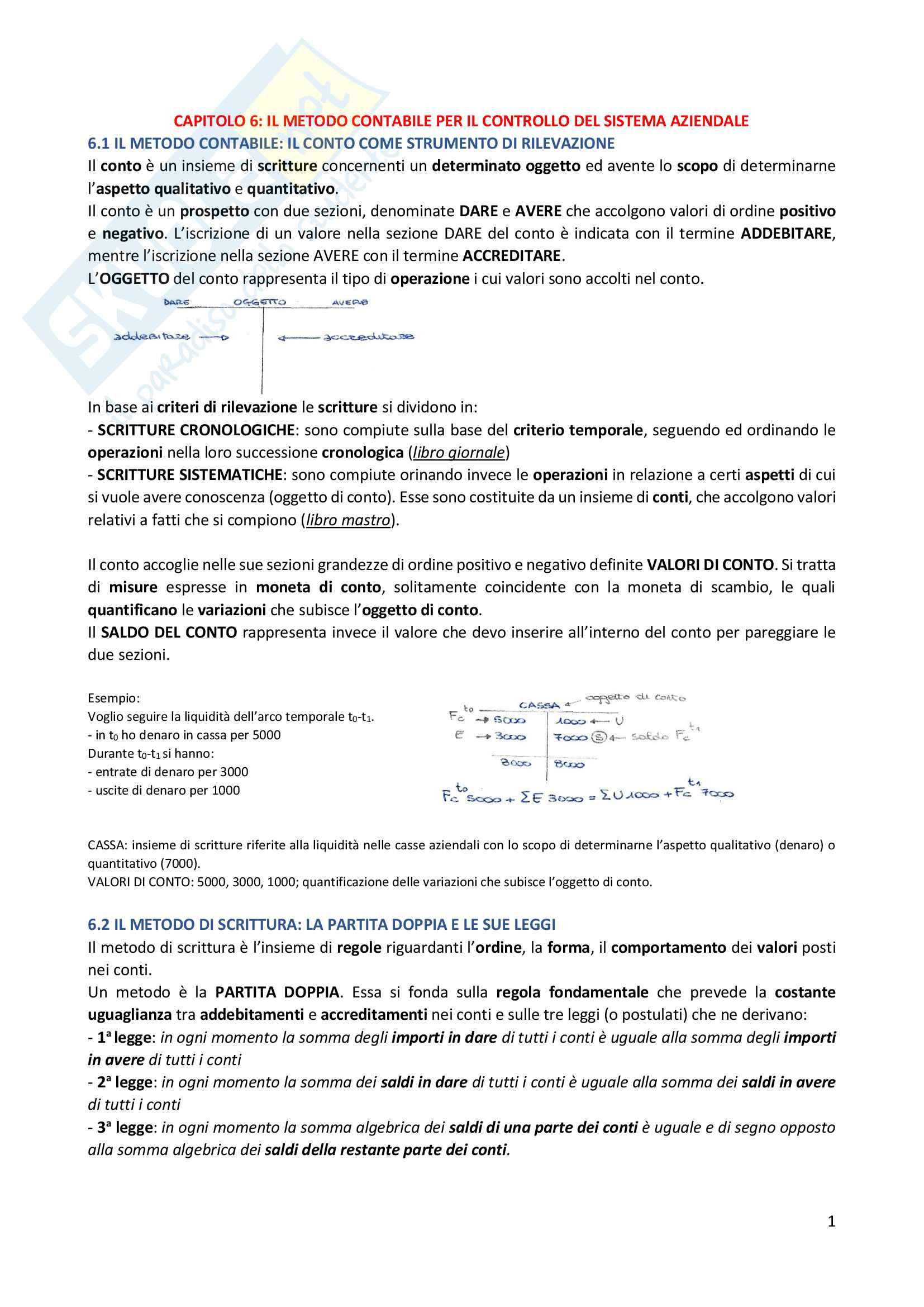 Riassunto esame Economia aziendale (2° parziale), prof. Stefania Servalli, libro consigliato Fondamenti di economia aziendale, Servalli + esercizi svolti e simulazione d'esame