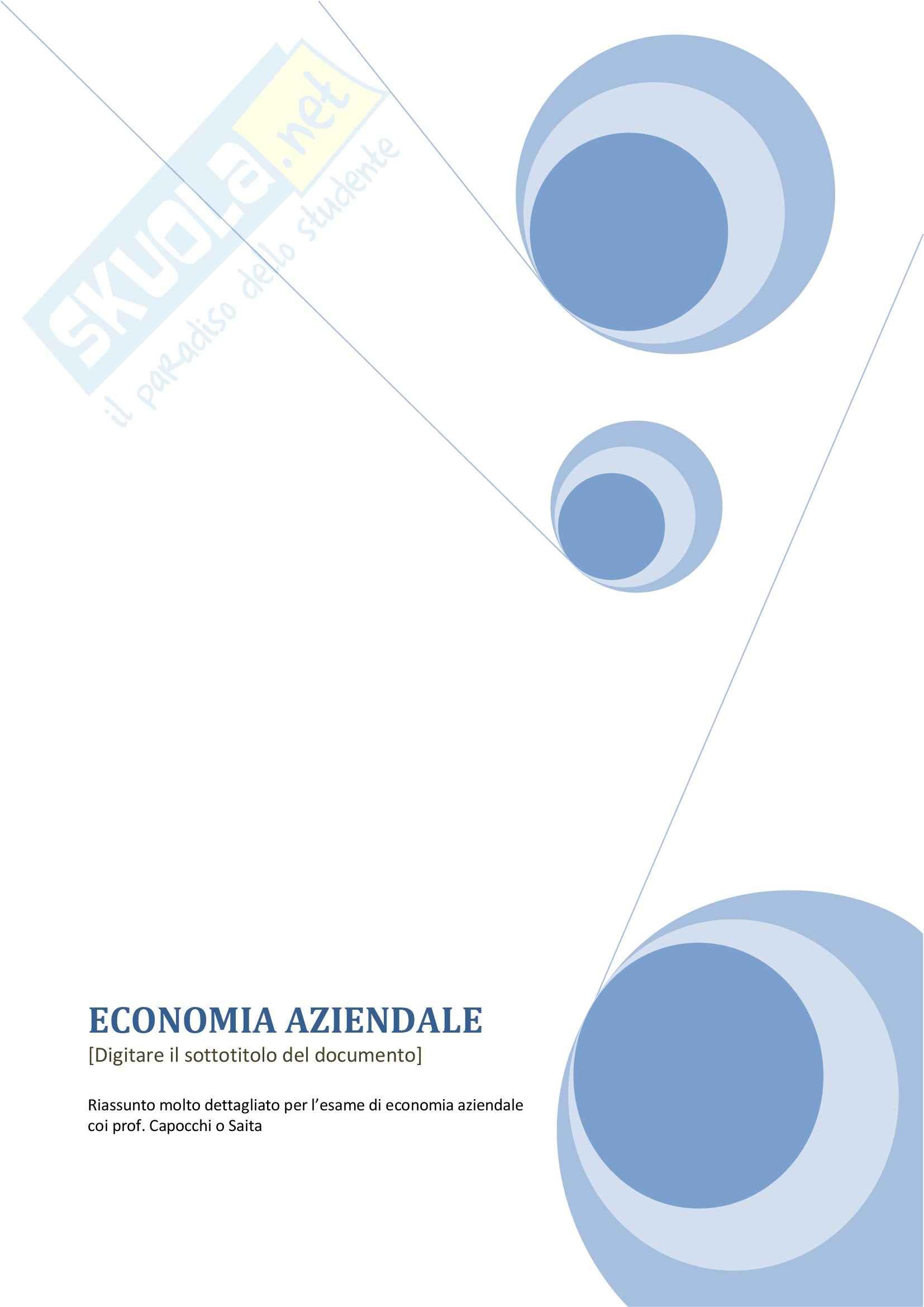 Lezioni e appunti, Economia aziendale