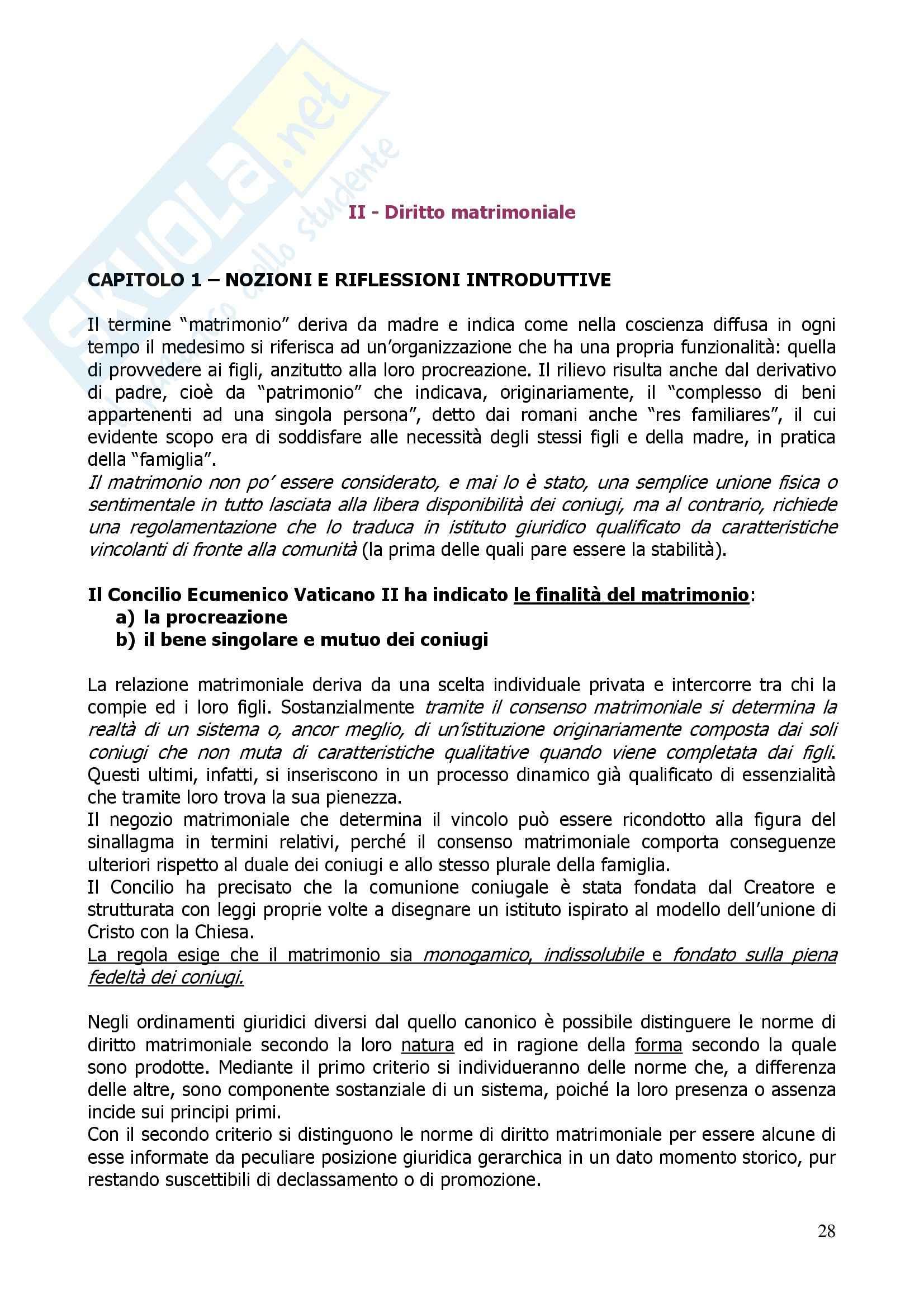 Riassunto esame Diritto Canonico, prof. Miele, libro consigliato Diritto Canonico (nozioni e riflessioni), Gherro - seconda parte