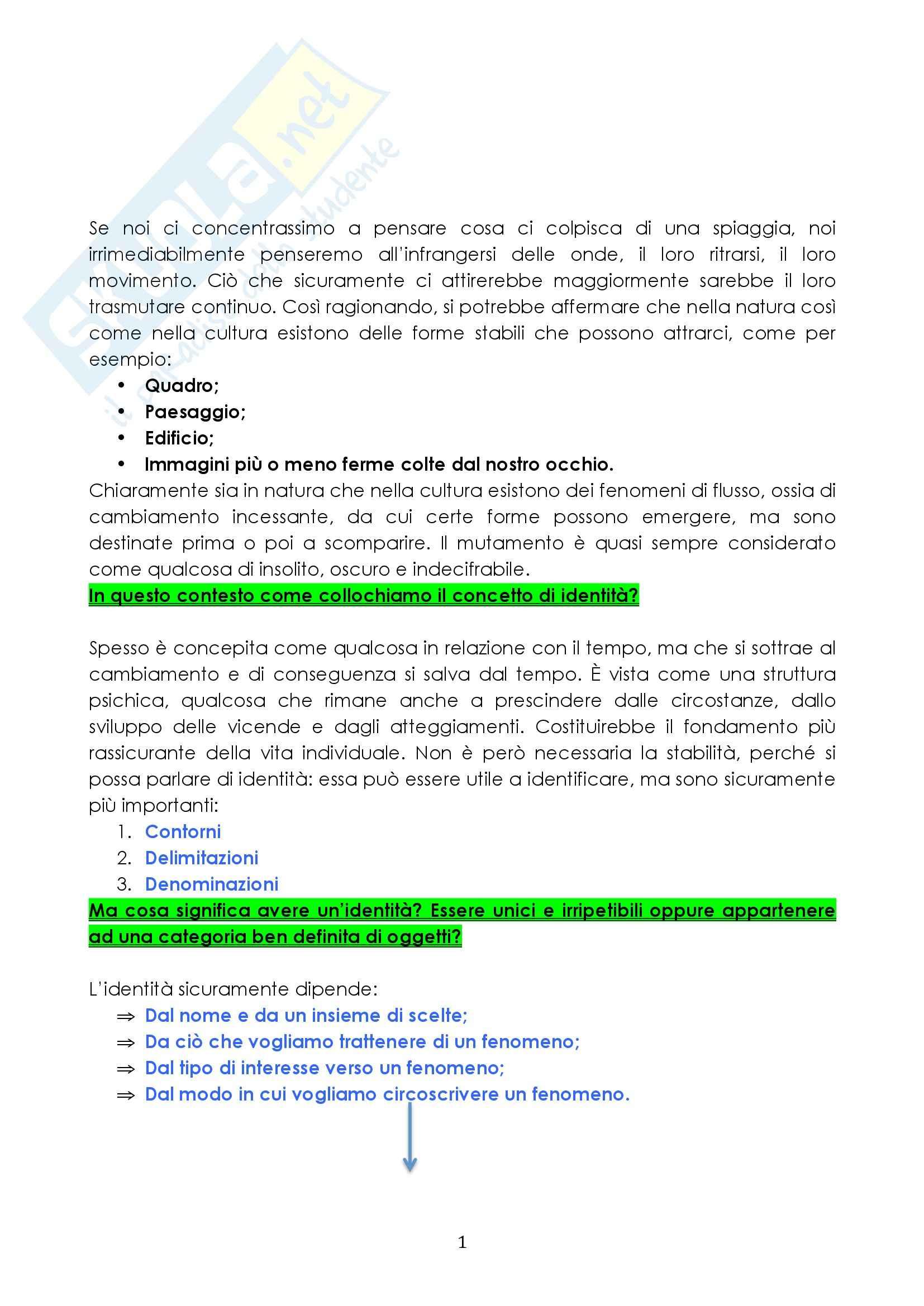 Riassunto esame Antropologia, prof. Pellizer, libro consigliato Contro l'Identità, Remotti