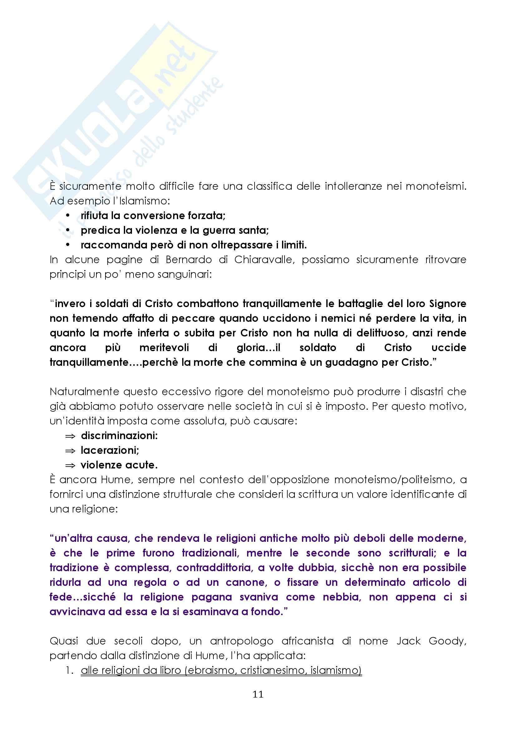 Riassunto esame Antropologia, prof. Pellizer, libro consigliato Contro l'Identità, Remotti Pag. 11