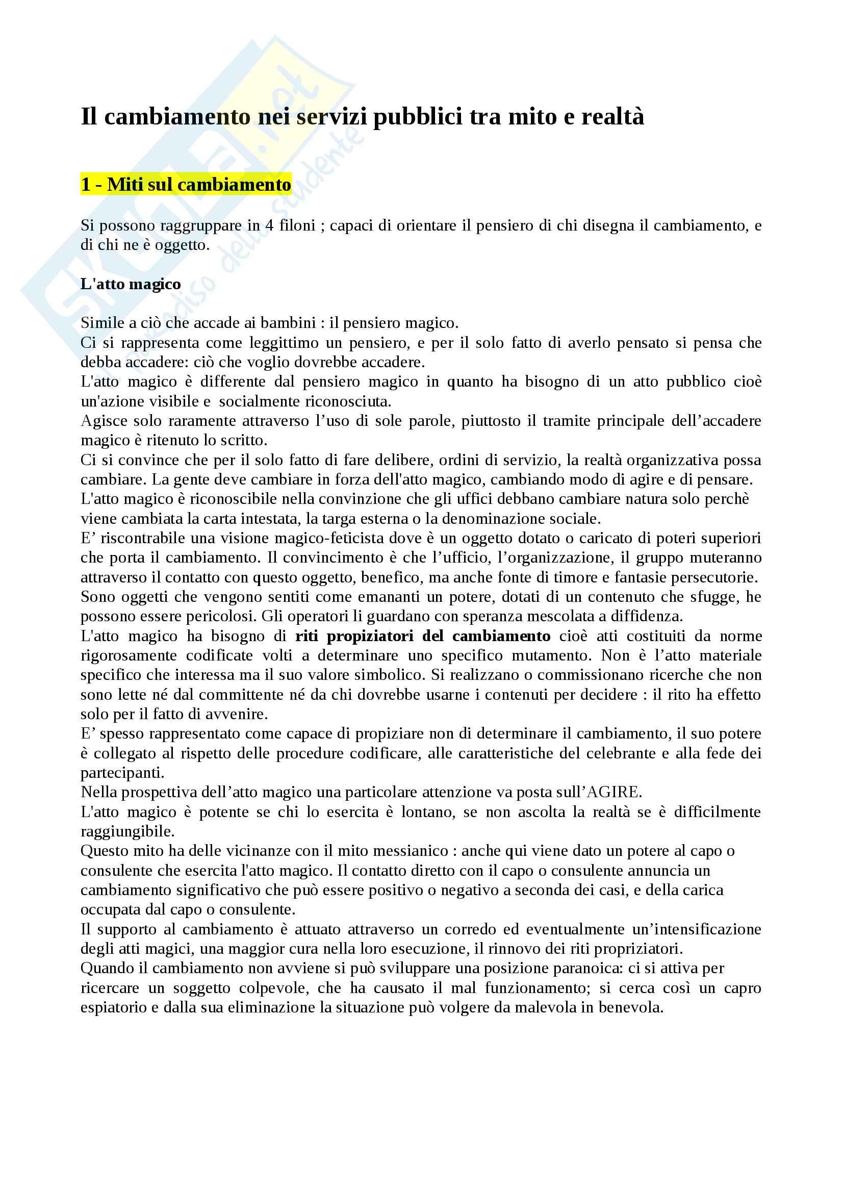 Riassunto esame sociologia, docente Carrà, libro consigliato La progettazione sociale, Gruppo Abele