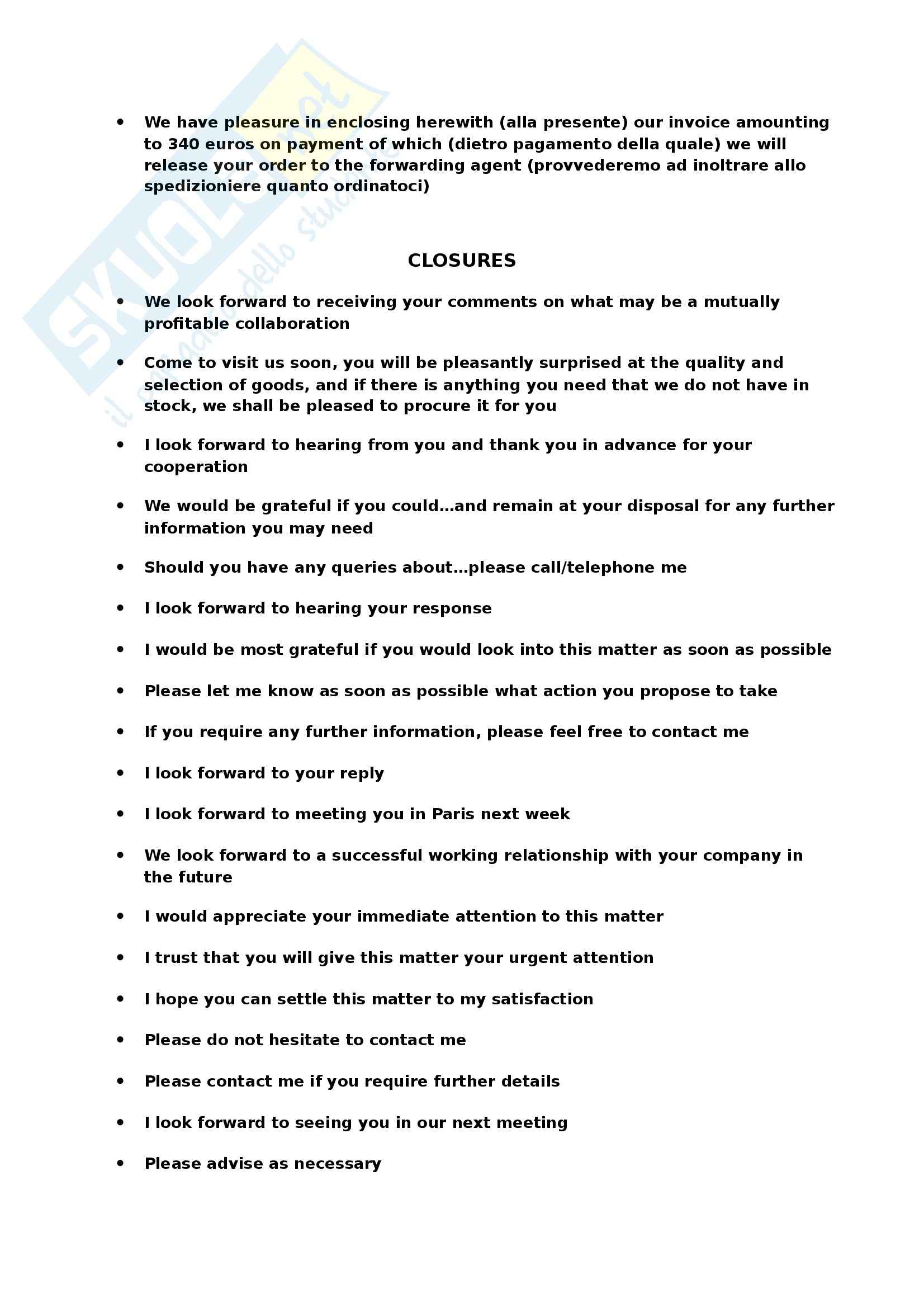 Inglese specialistico - Business letters Pag. 6
