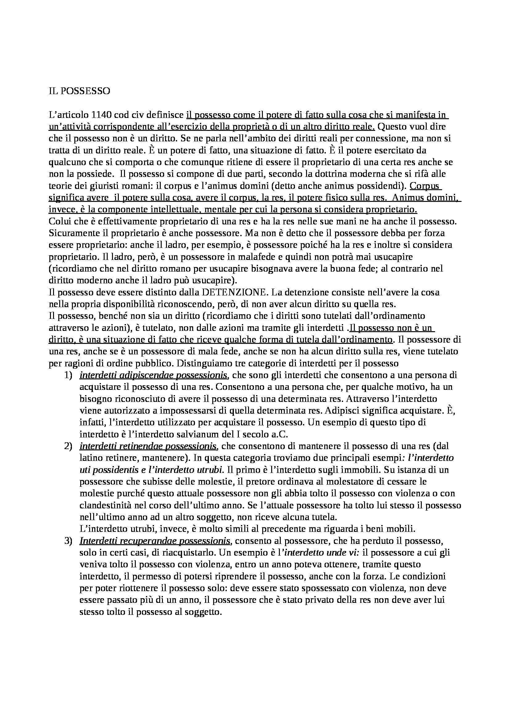 Diritto romano - Appunti (seconda parte)
