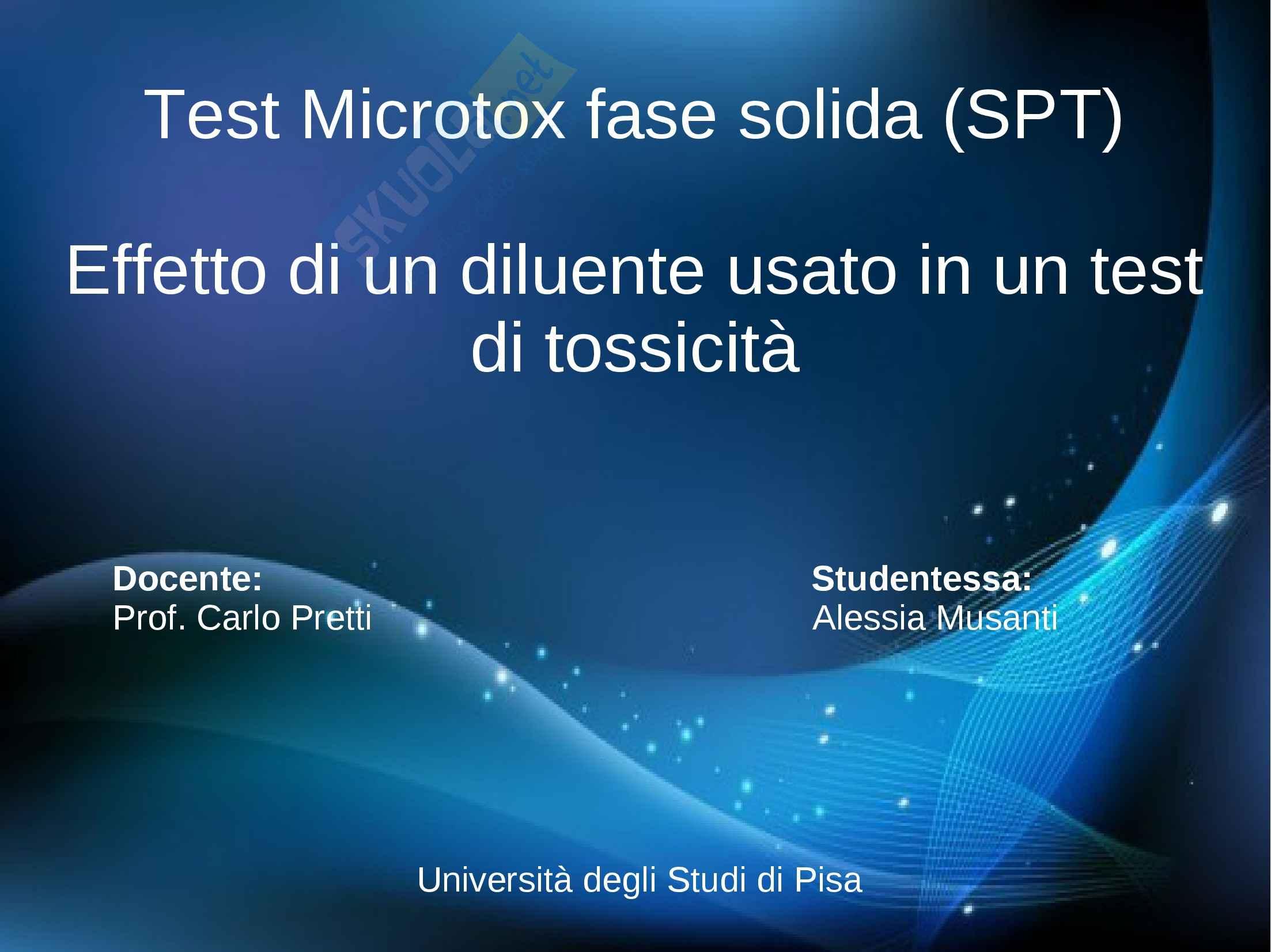 Ecotossicologia - saggio in fase solida Microtox M500