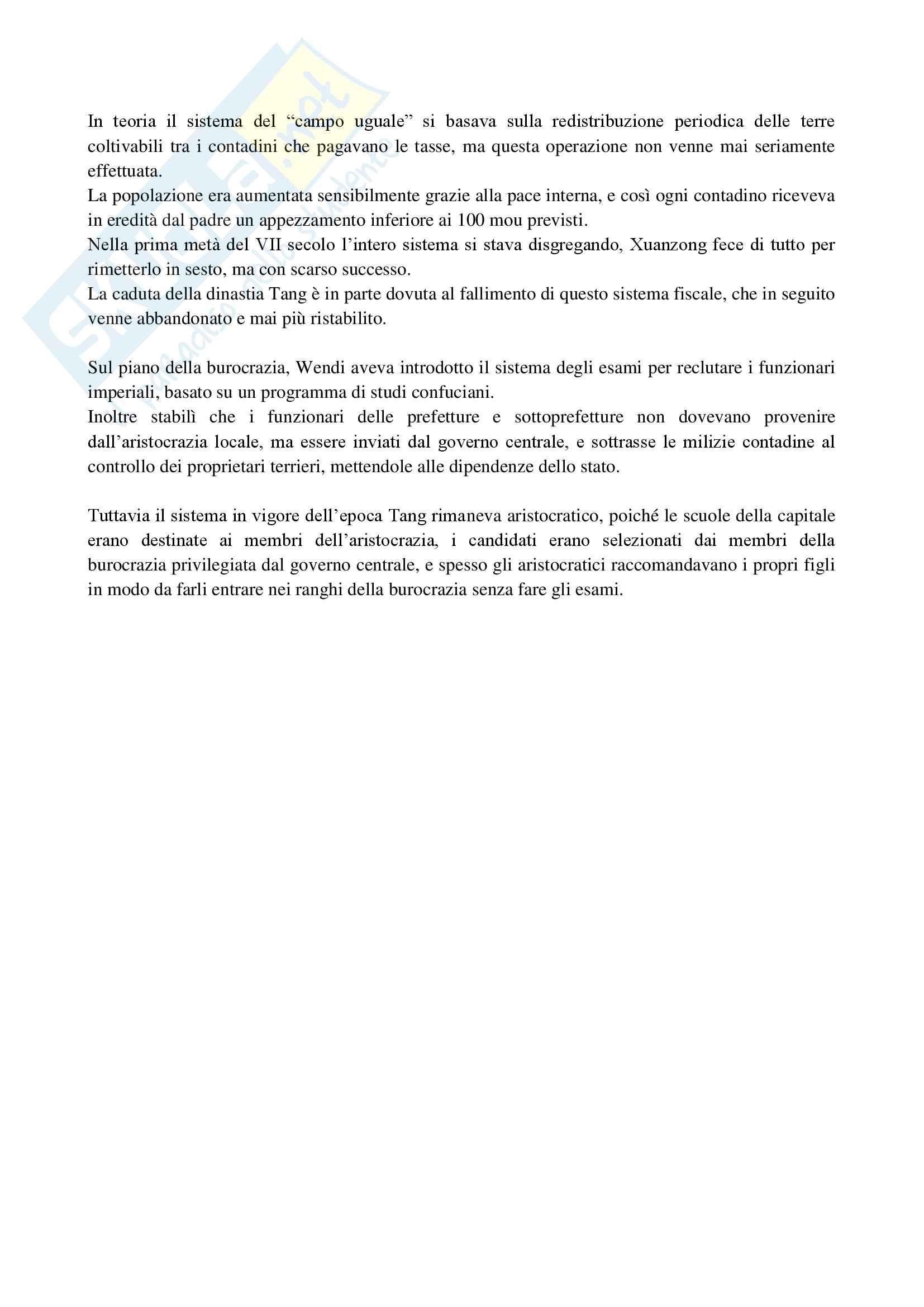 Riassunto esame Storia e civiltà dell'Estremo Oriente, prof. Carioti, libro consigliato Storia dell'Asia Orientale, John K. Fairbank, Edwin, O. Reischauer Pag. 26