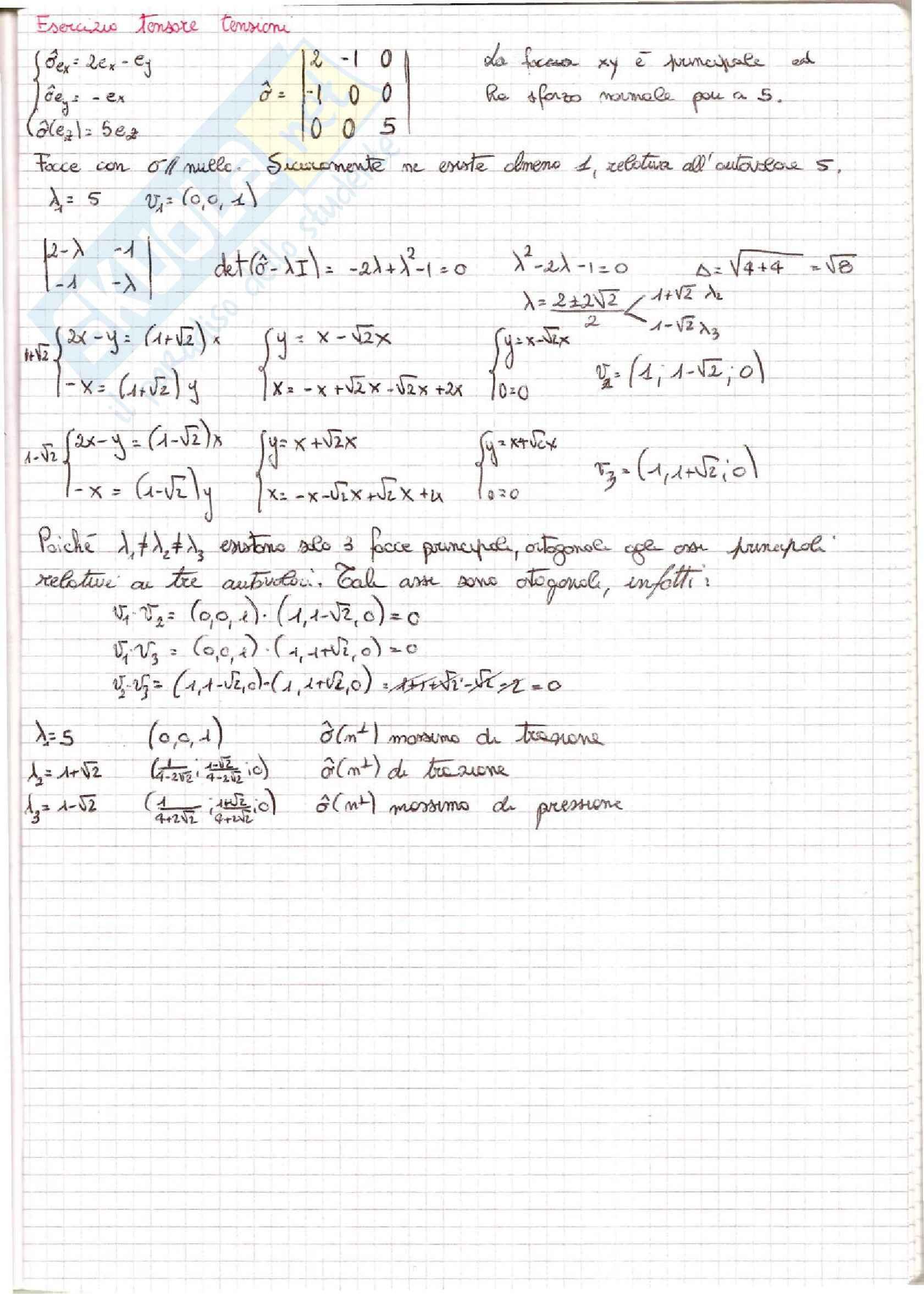 Meccanica dei Continui - Esercizi