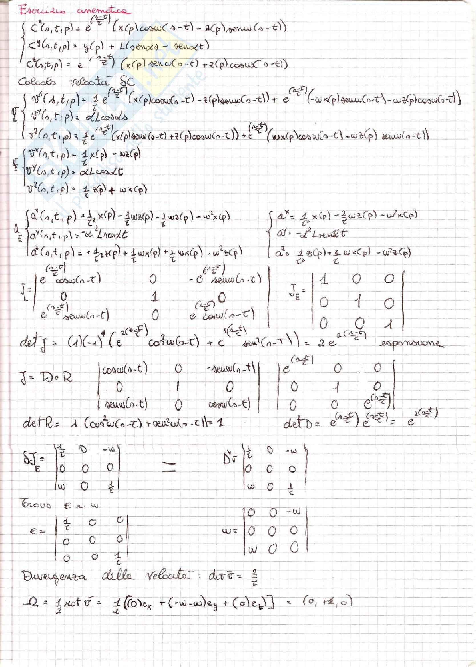 Meccanica dei Continui - Esercizi Pag. 11