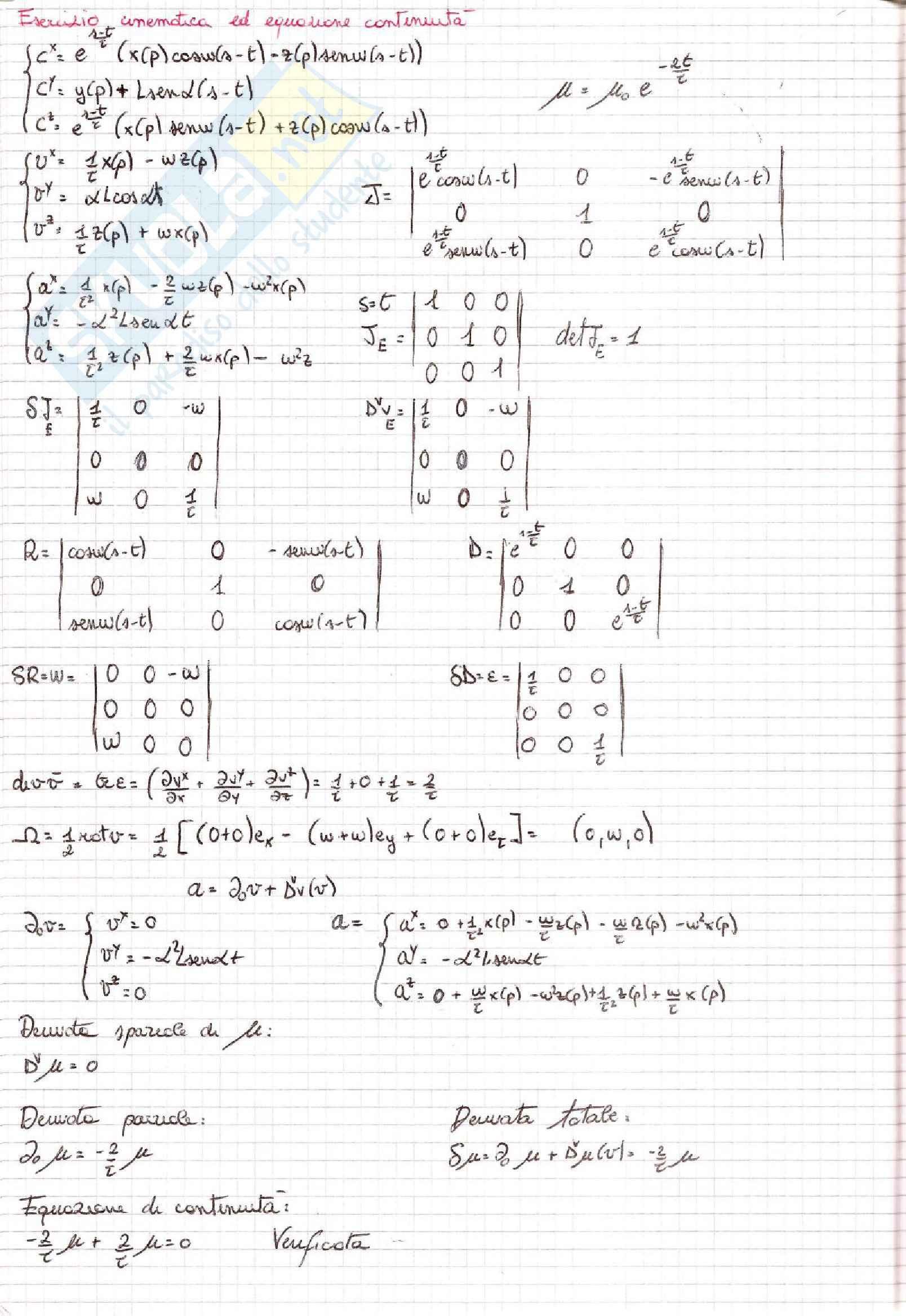 Meccanica dei Continui - Esercizi Pag. 16