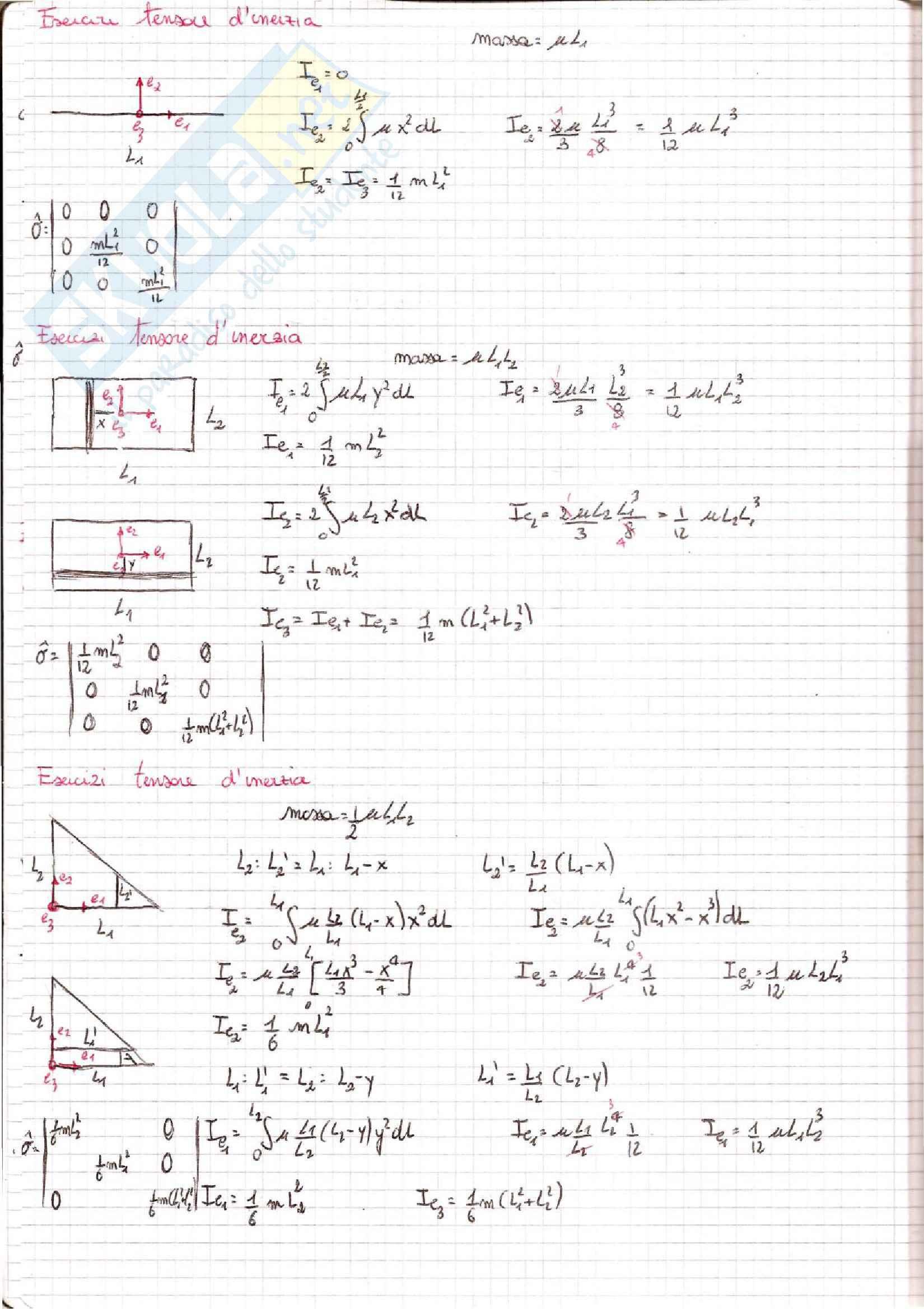 Meccanica dei Continui - Esercizi Pag. 6