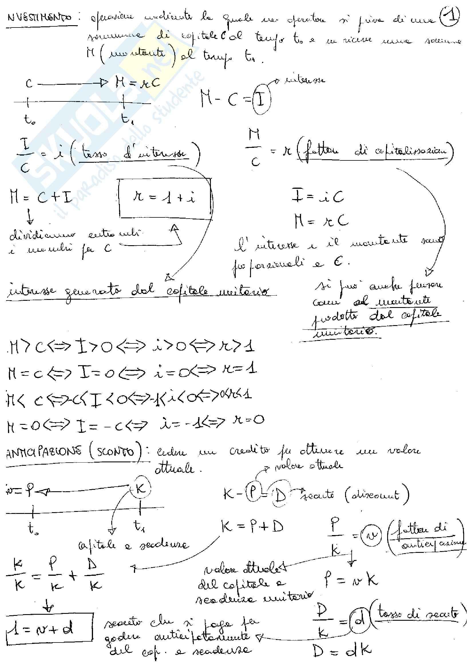 Matematica Finanziaria - Corso completo
