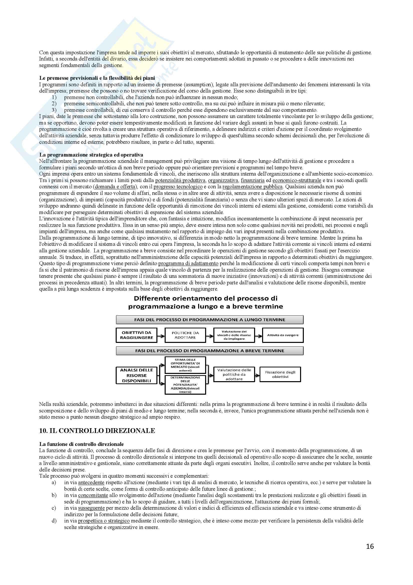 Riassunto esame Economia e gestione delle imprese, docente Vesci-Botti, libro consigliato La gestione dell impresa, Sciarelli Pag. 16