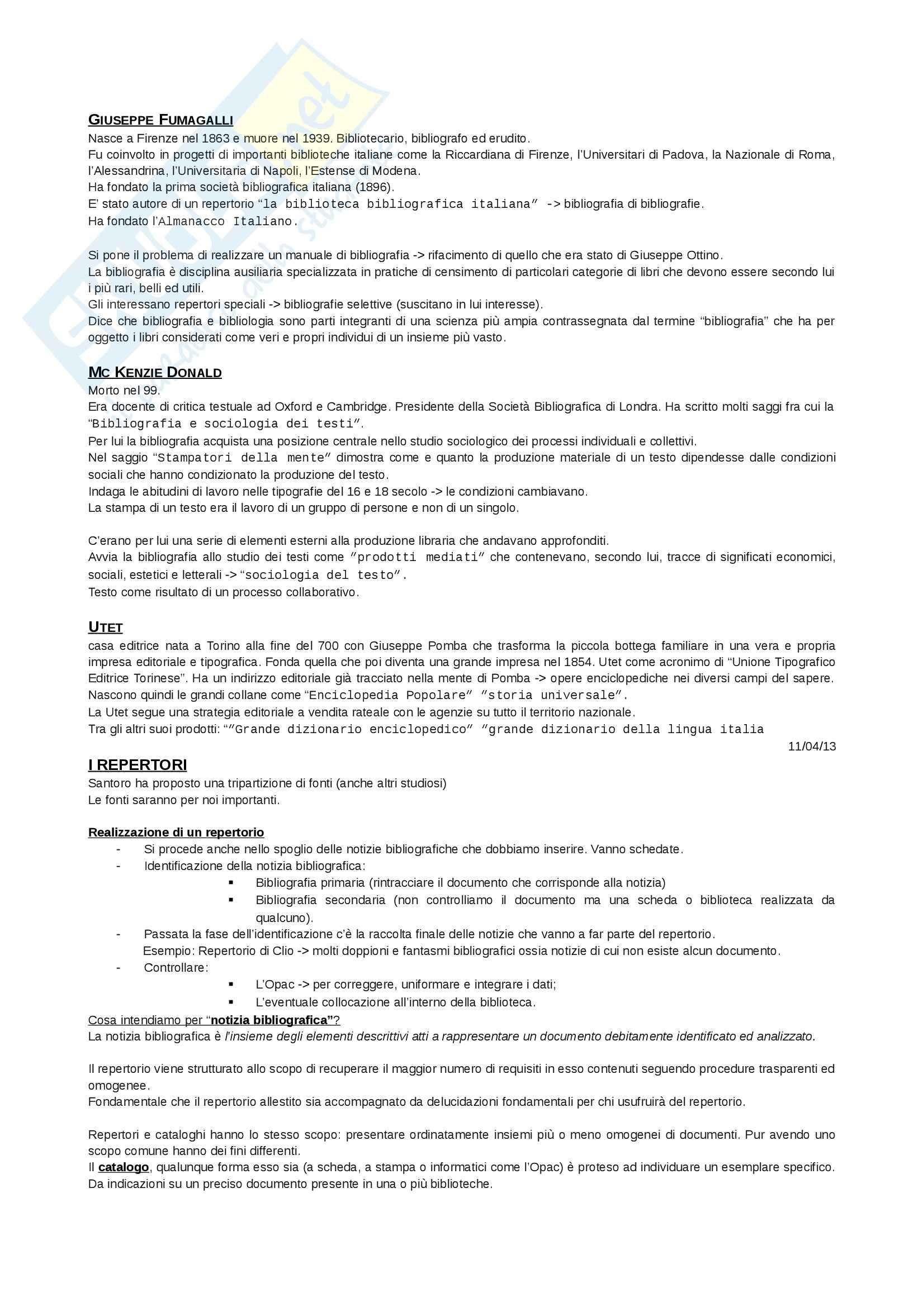 Bibliografia - Appunti Pag. 11