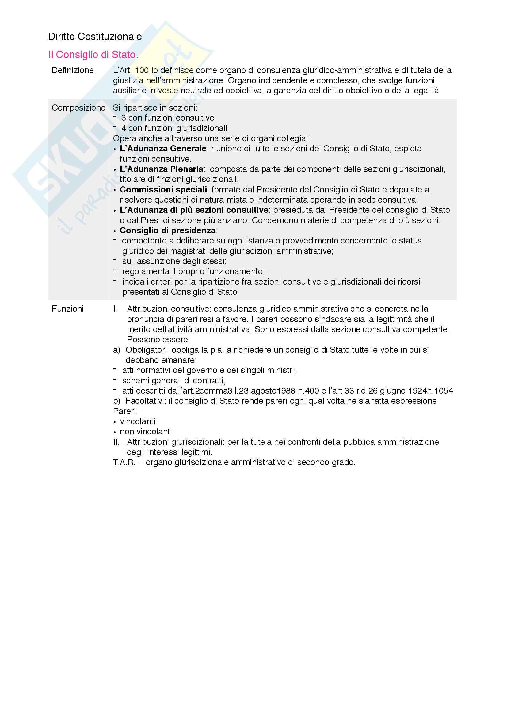 Riassunto esame diritto costituzionale, prof. Mezzetti, libro consigliato Manuale breve di diritto costituzionale Pag. 106