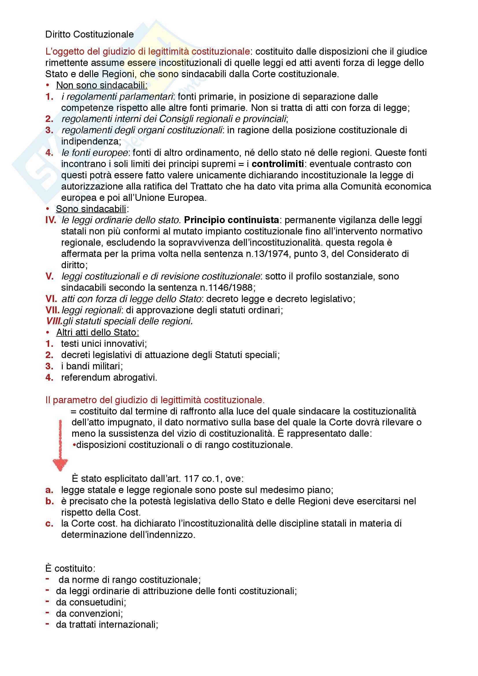 Riassunto esame diritto costituzionale, prof. Mezzetti, libro consigliato Manuale breve di diritto costituzionale Pag. 11
