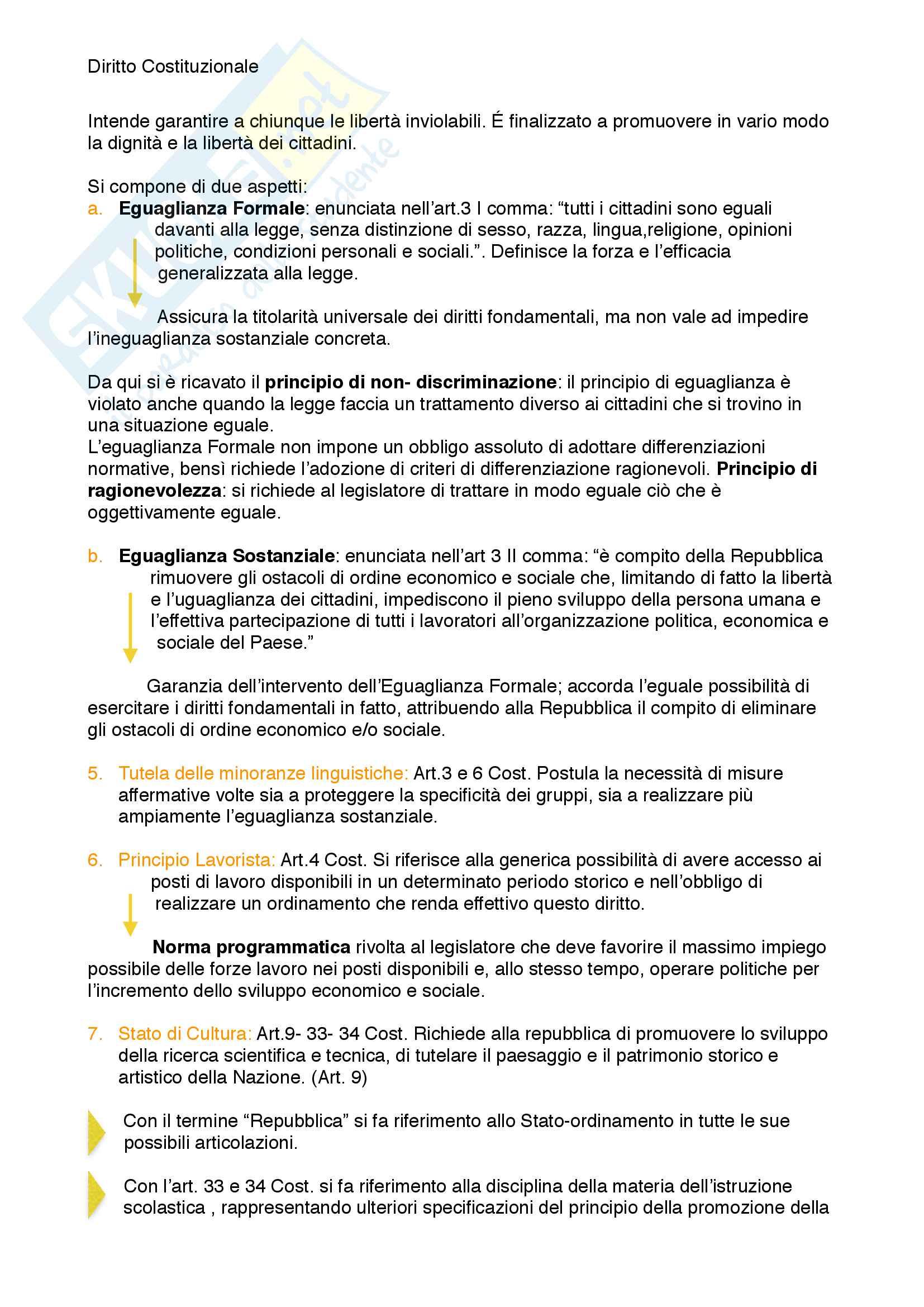 Riassunto esame diritto costituzionale, prof. Mezzetti, libro consigliato Manuale breve di diritto costituzionale Pag. 126