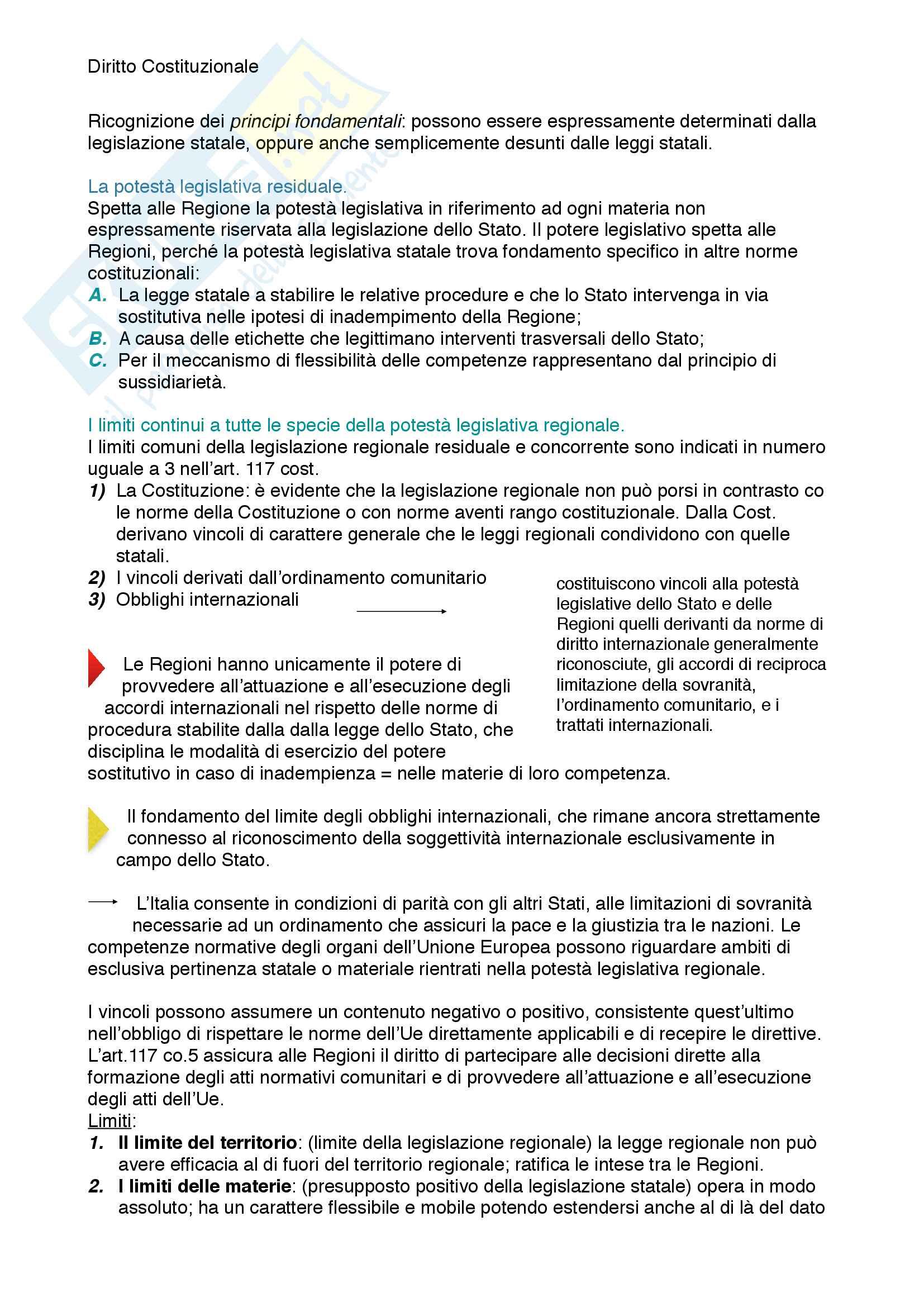 Riassunto esame diritto costituzionale, prof. Mezzetti, libro consigliato Manuale breve di diritto costituzionale Pag. 31