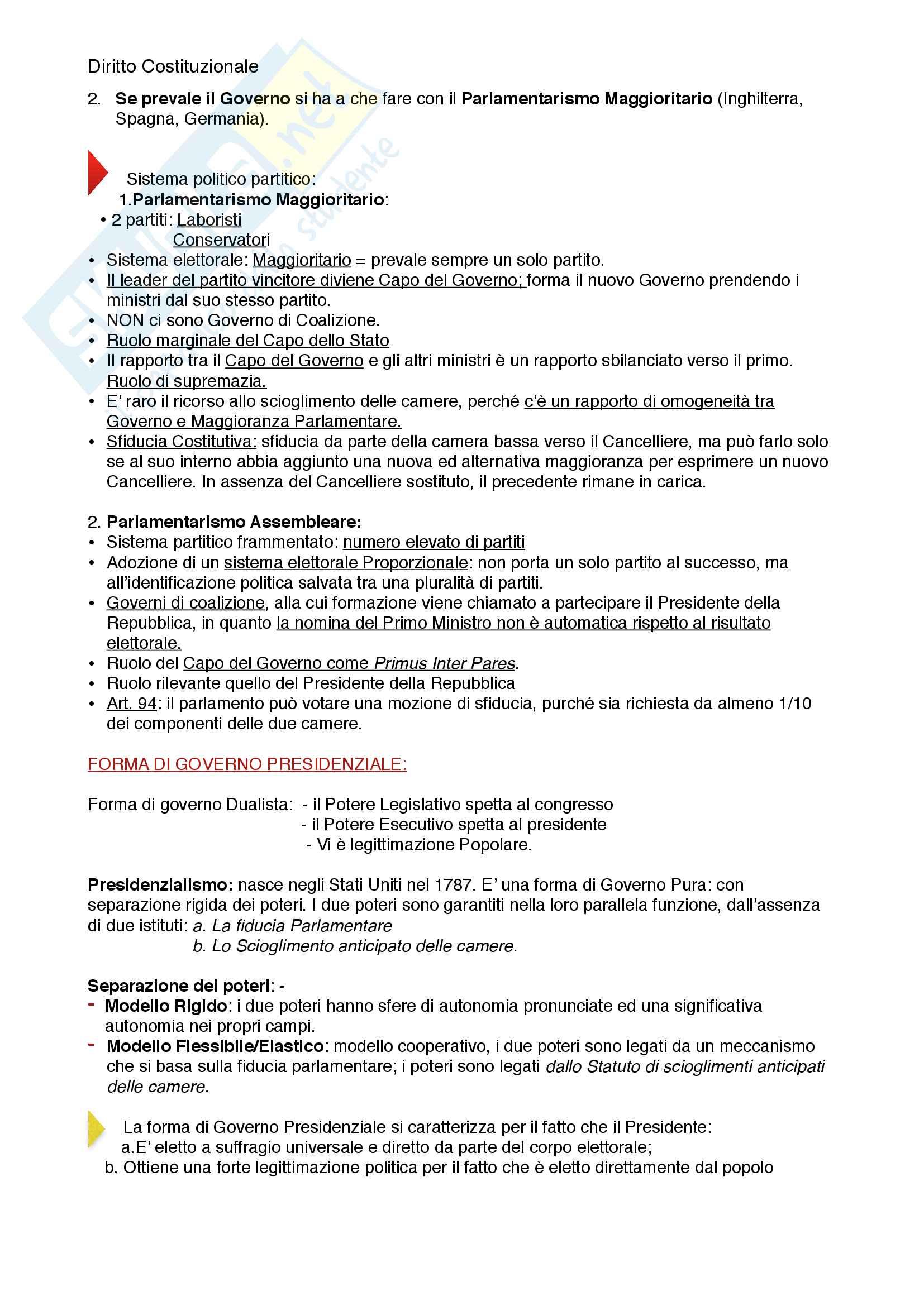 Riassunto esame diritto costituzionale, prof. Mezzetti, libro consigliato Manuale breve di diritto costituzionale Pag. 6