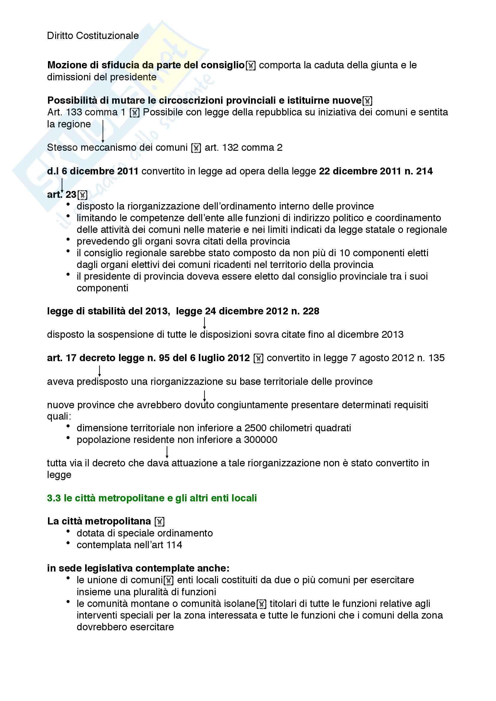 Riassunto esame diritto costituzionale, prof. Mezzetti, libro consigliato Manuale breve di diritto costituzionale Pag. 91
