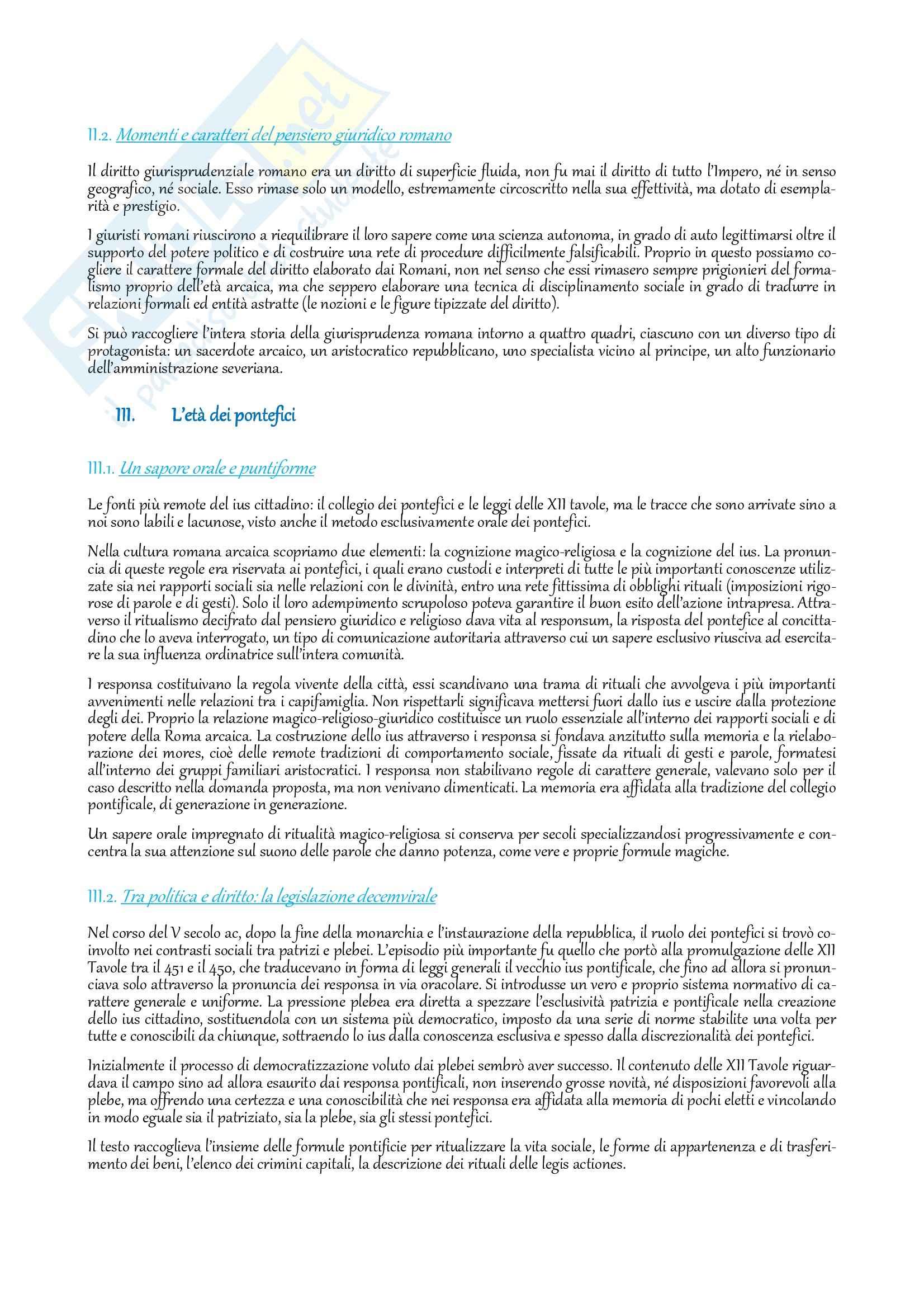Riassunto esame Istituzioni di diritto romano, prof. Buzzacchi, libro consigliato Diritto privato romano, Schiavone ed. 2010 Pag. 2