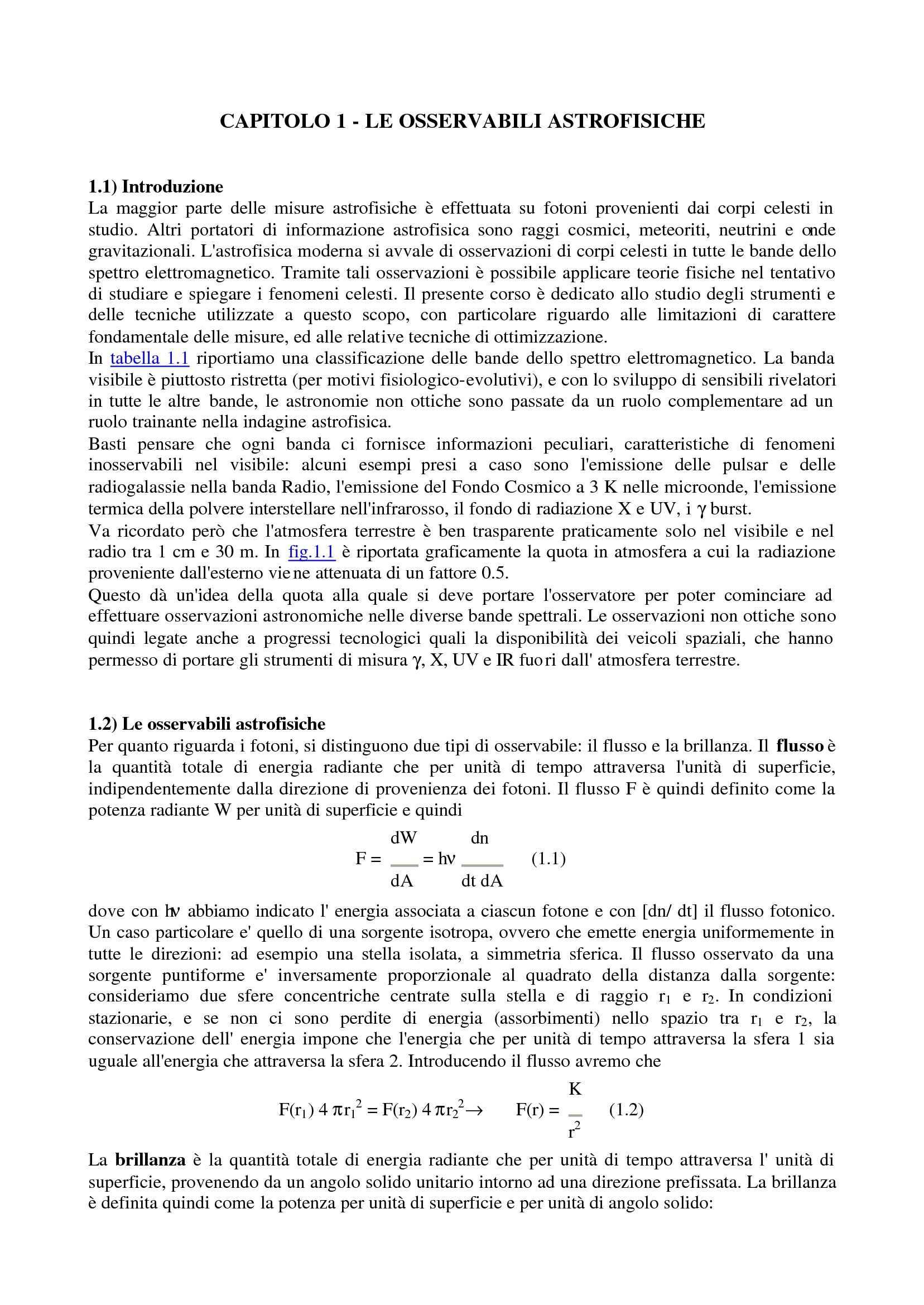 Fotometria e misura delle distanze
