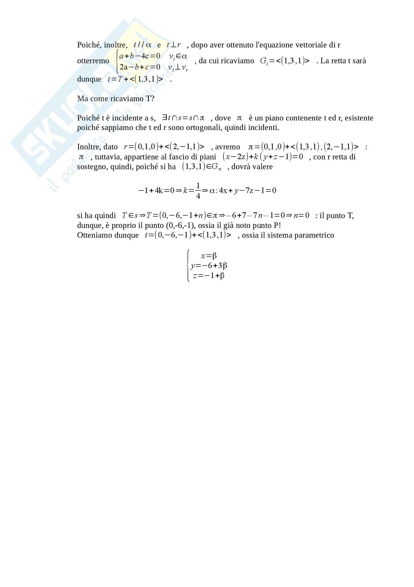 Fondamenti di Algebra Lineare e Geometria - Appunti Pag. 71