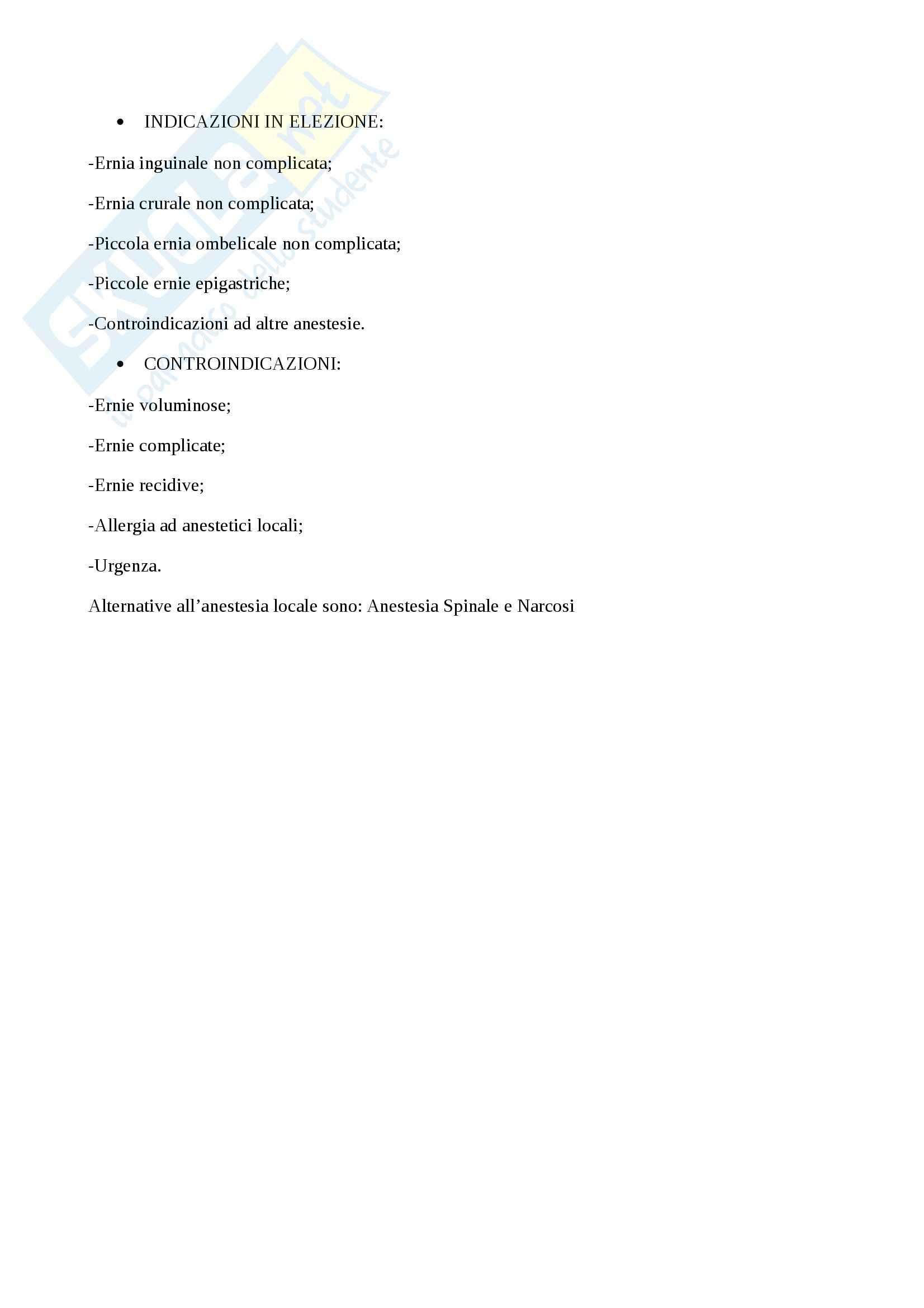 Patologie parete addominale, Chirurgia generale per infermieri Pag. 11