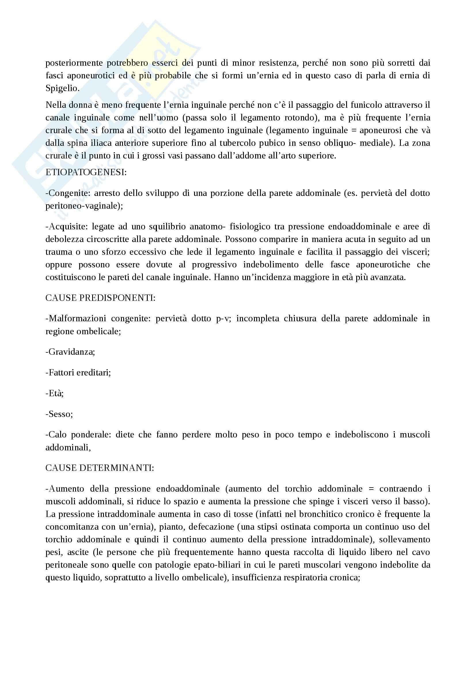 Patologie parete addominale, Chirurgia generale per infermieri Pag. 2