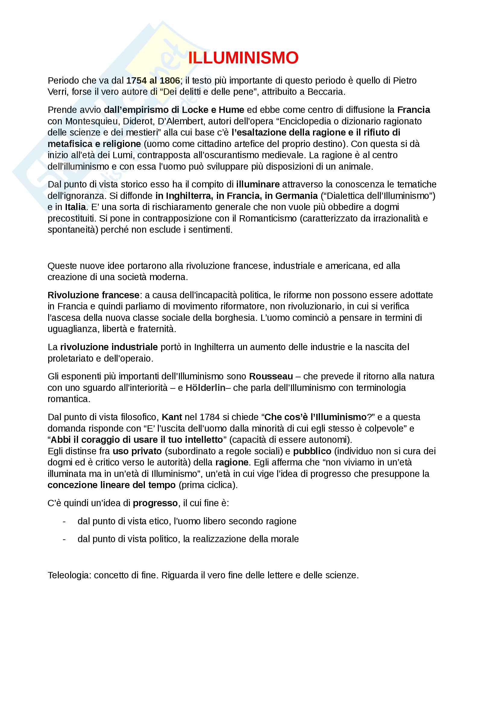 """Riassunto esame Letteratura Italiana, docente D'Antuono, libri consigliati """"Lettere"""" e il """"Discorso"""" di Antonio Genovesi"""