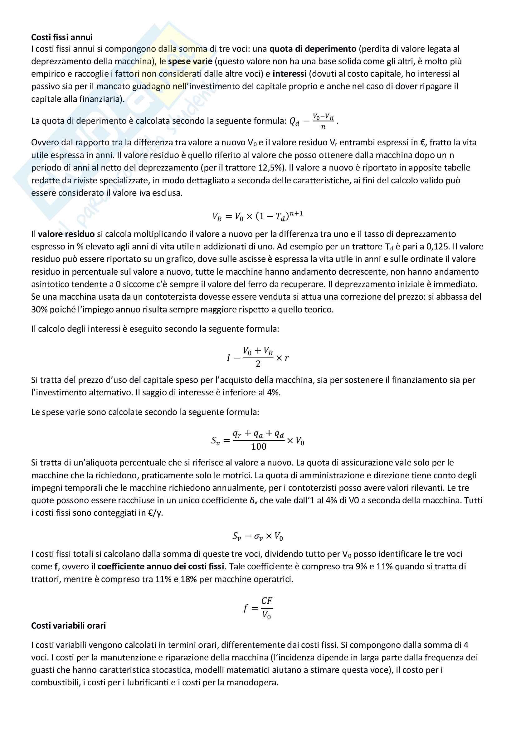 Meccanizzazione agricola, pianificazione e gestione dei processi meccanizzati Pag. 11