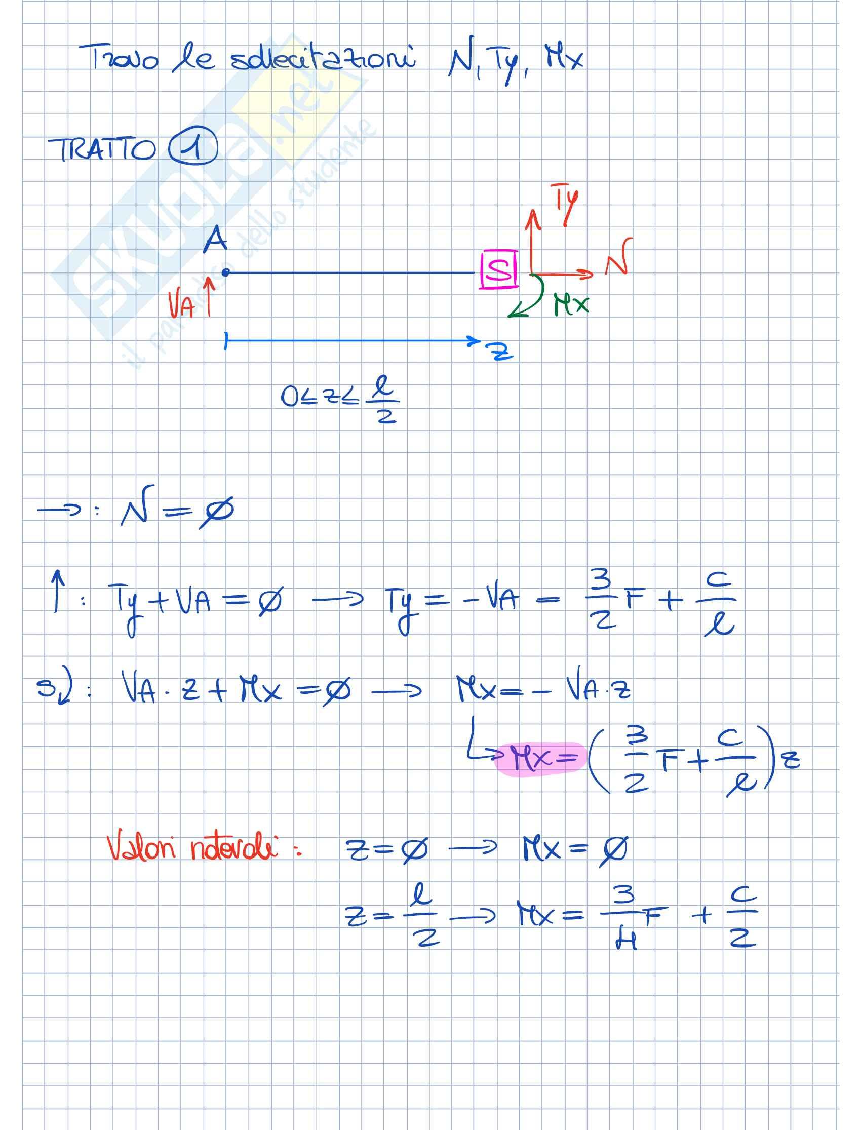 Esercitazioni Fondamenti di Meccanica strutturale Parte 2 Pag. 2